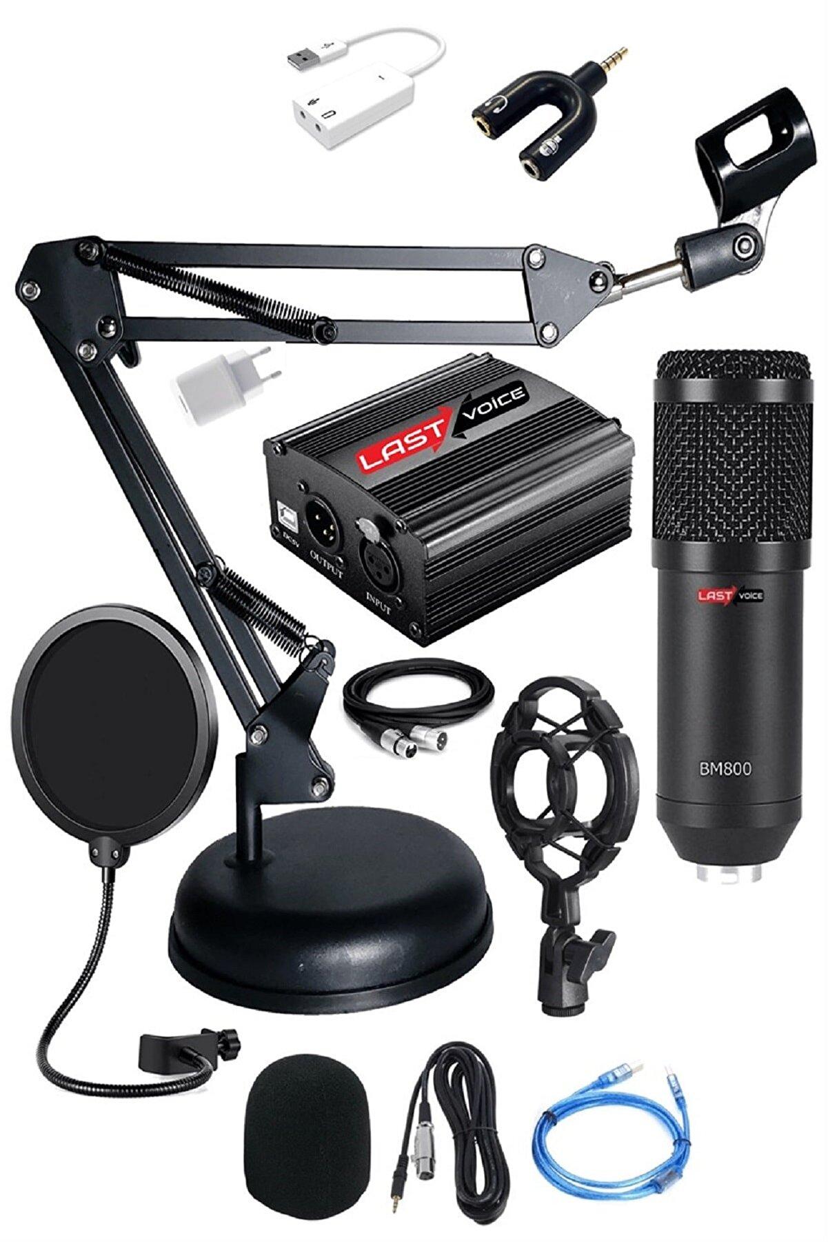 Lastvoice Bm800 Full Black Condenser Youtuber Stüdyo Mikrofonu