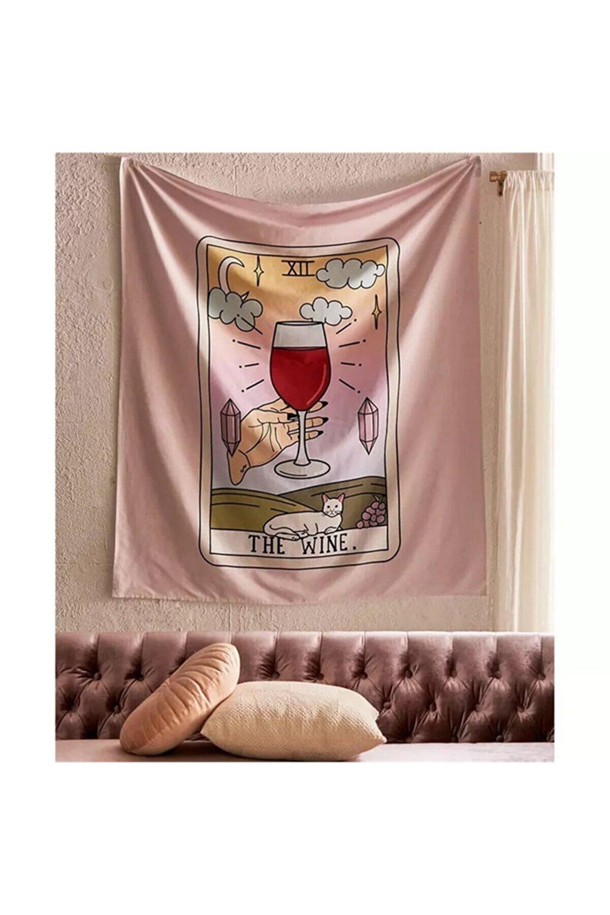 Trendiz The Wine Açık Pembe Duvar Halısı
