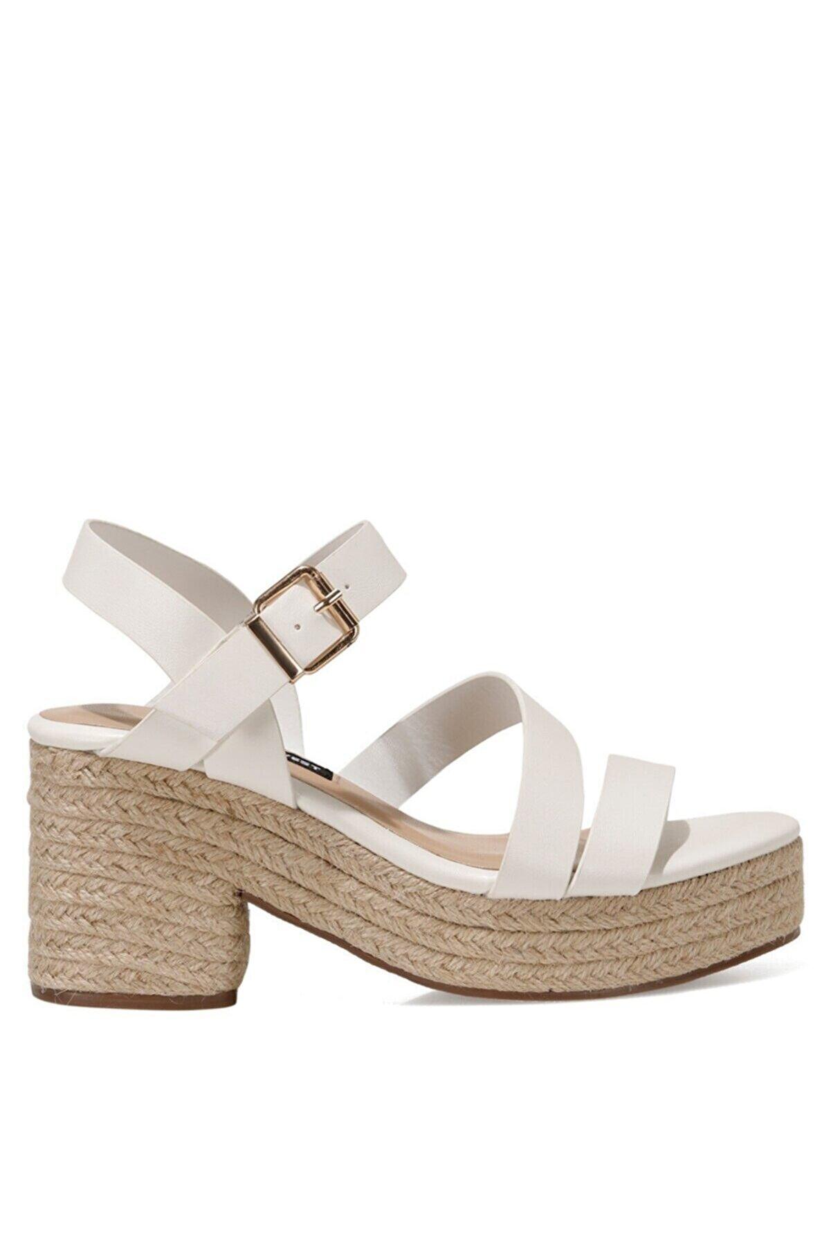 Nine West WEASA 1FX Beyaz Kadın Topuklu Ayakkabı 101030113