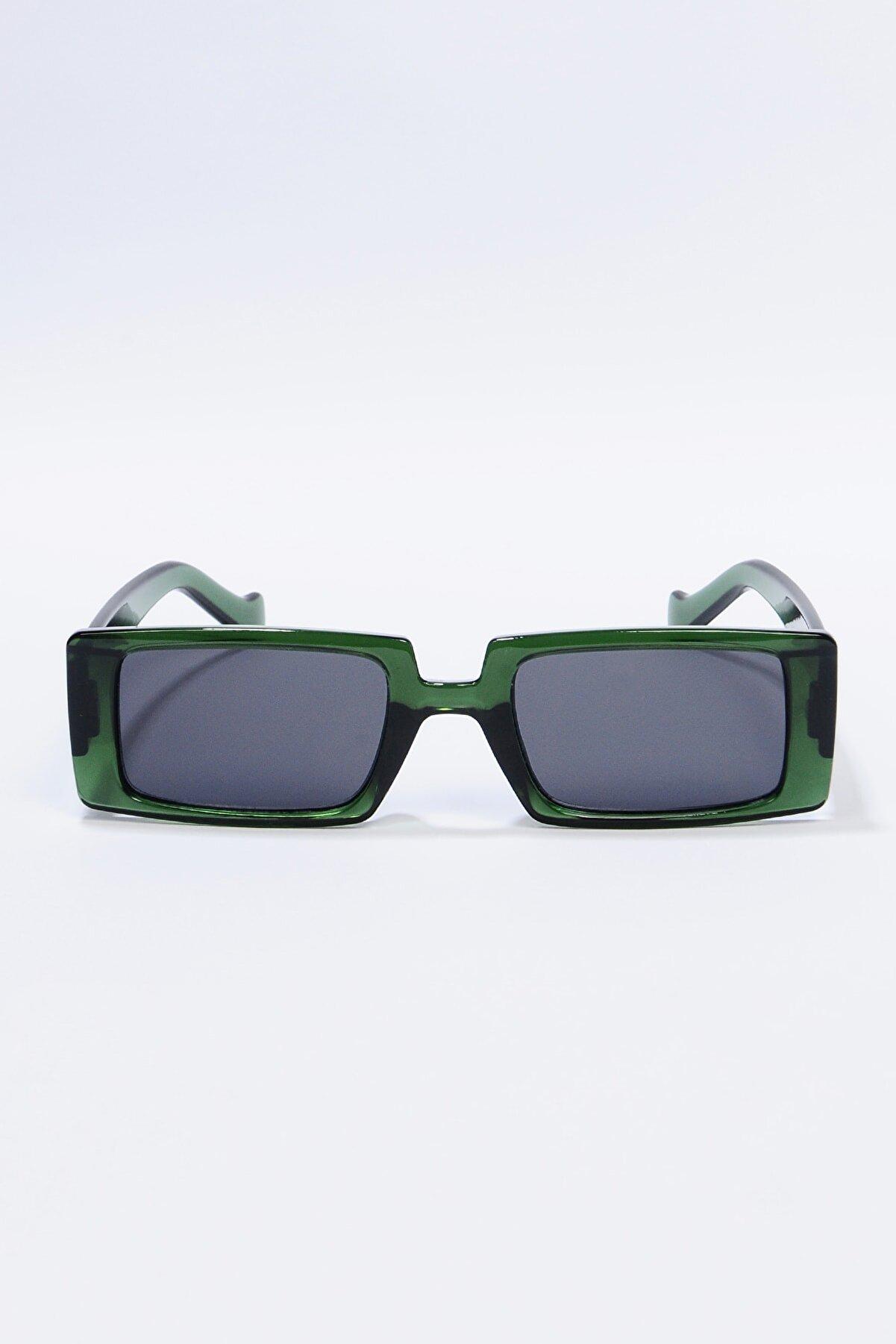 Zevahir Kadın Yeşil Dikdörtgen Güneş Gözlüğü