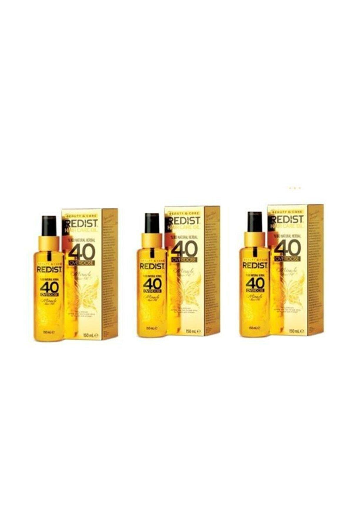 Redist - 40 Overdose Saç Bakım Yağı 3x150 ml.