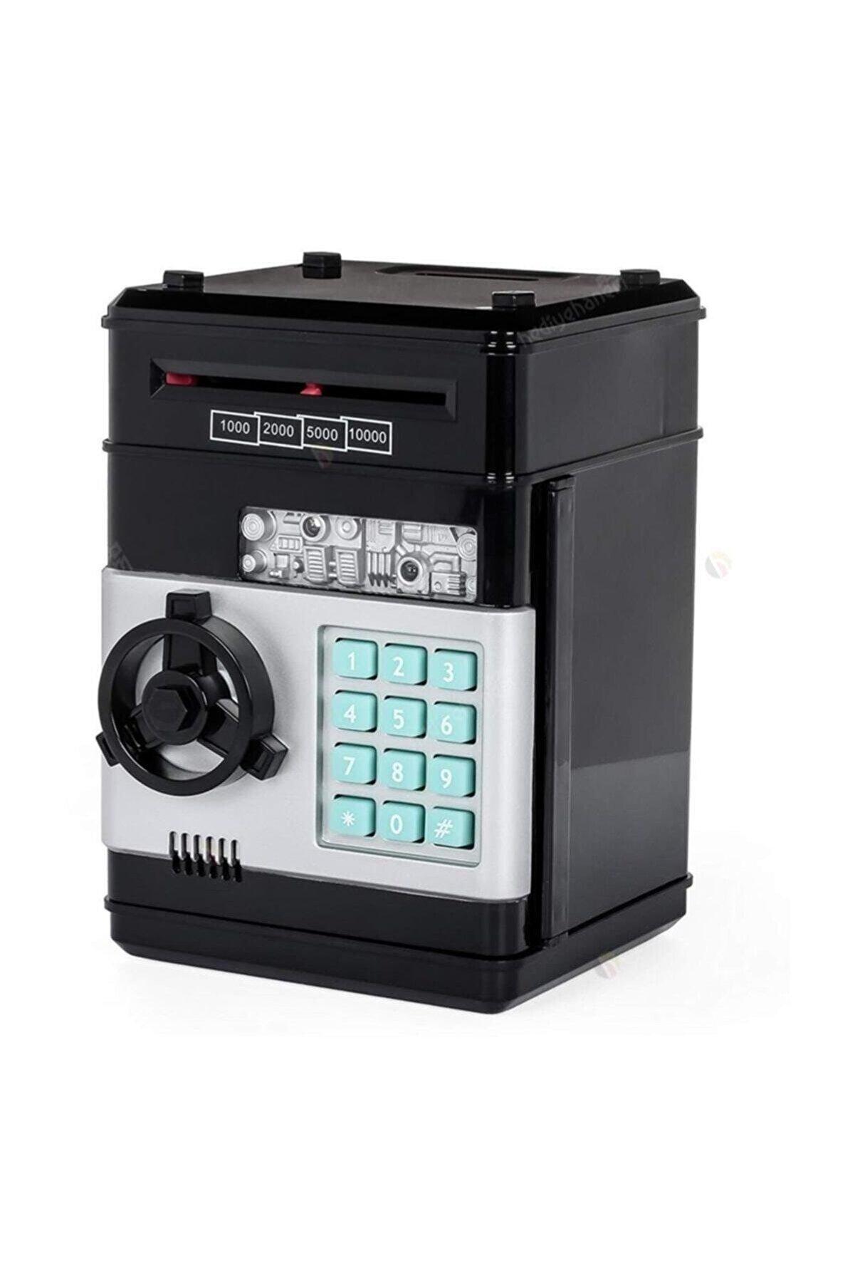 AKIN PAZAR Siyah Şifreli Kasa Atm Elektronik Kumbara