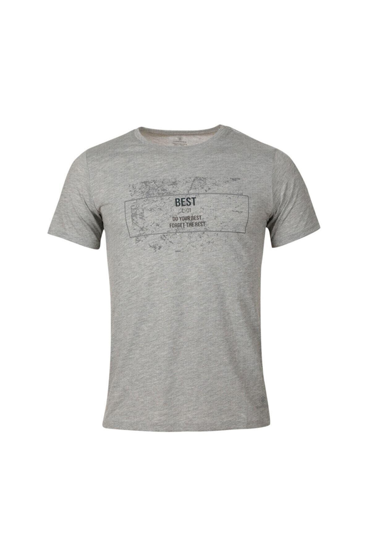 Lumberjack SPLASH T-SHIRT GRI MELANJ Erkek T-Shirt 101015397
