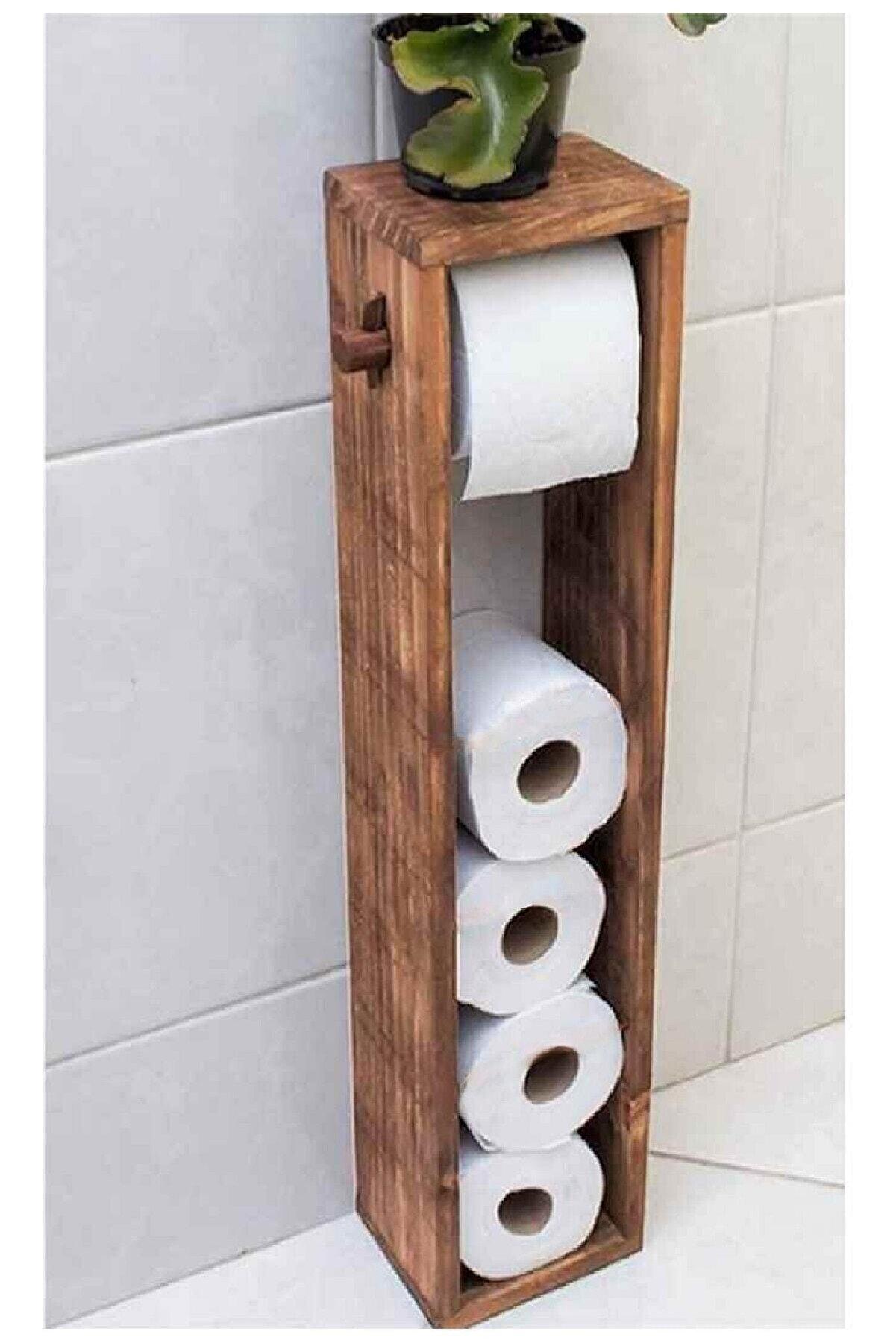 Jest Dekor Wc Kağıtlık Tuvalet Kağıtlığı Ahşap Banyo