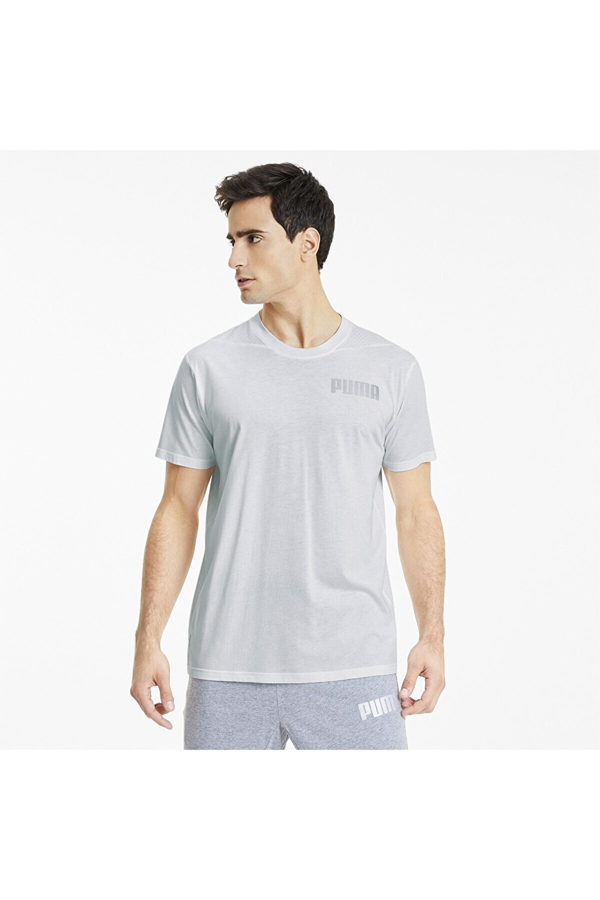 Puma Erkek Spor T-Shirt - COLLECTIVE TRI-BLEND - 51899203