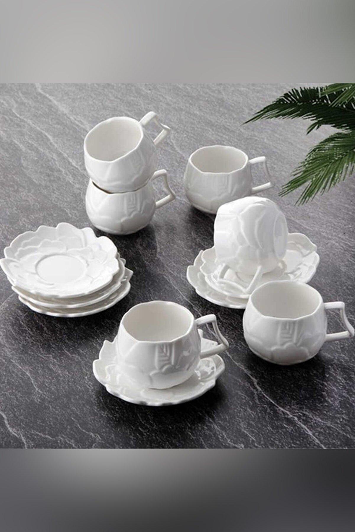 Tohana Flower Porselen Türk Kahve Fincan Takımı Thn-10608