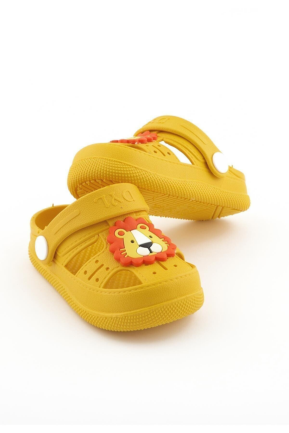 Daye Çocuk Günlük Ortopedik Kaymaz Taban Hayvan Figürlü Çocuk Sandalet Terlik - Sarı