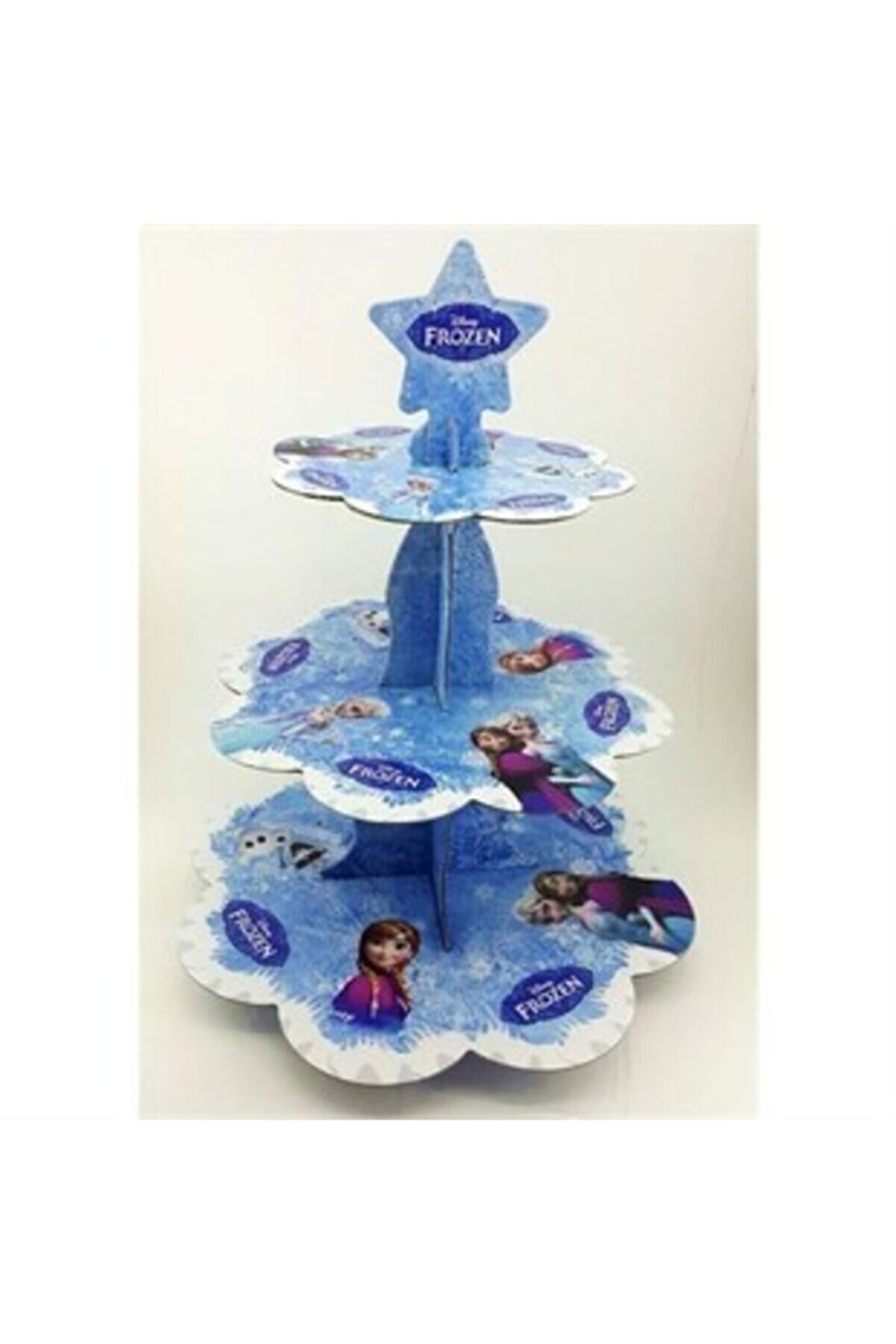 parti güneşi Elsa Frozen Kek Stand
