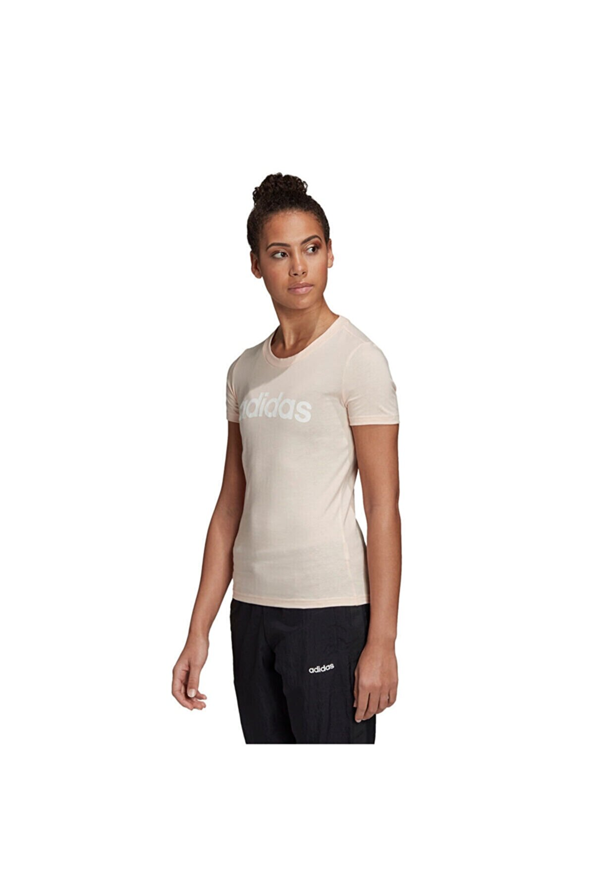 adidas W E LIN SLIM T Pembe Kadın T-Shirt 100664185