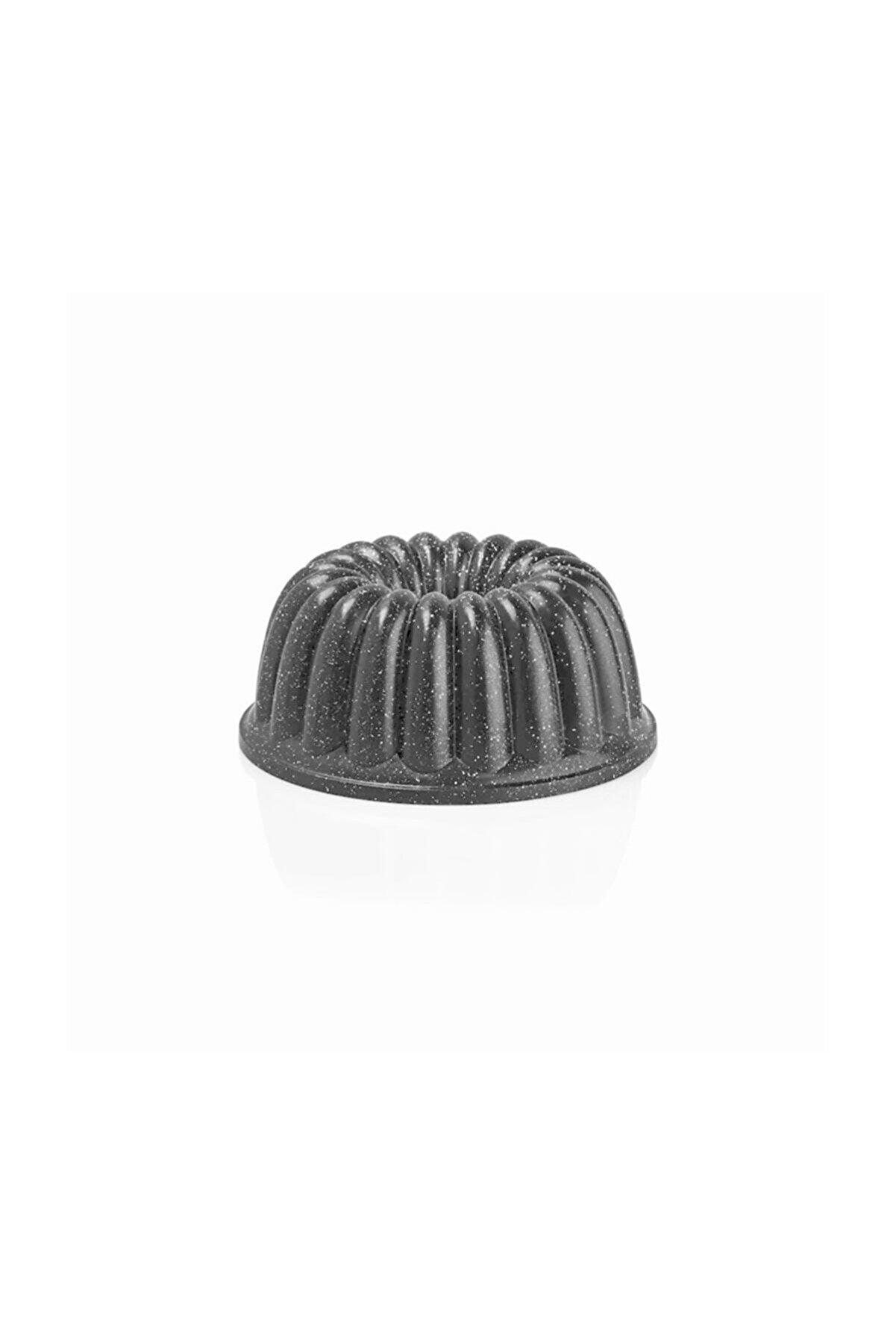 ThermoAD Kek Kalıbı Alüminyum Döküm Granit Sık Dilimli Gri 26 Cm
