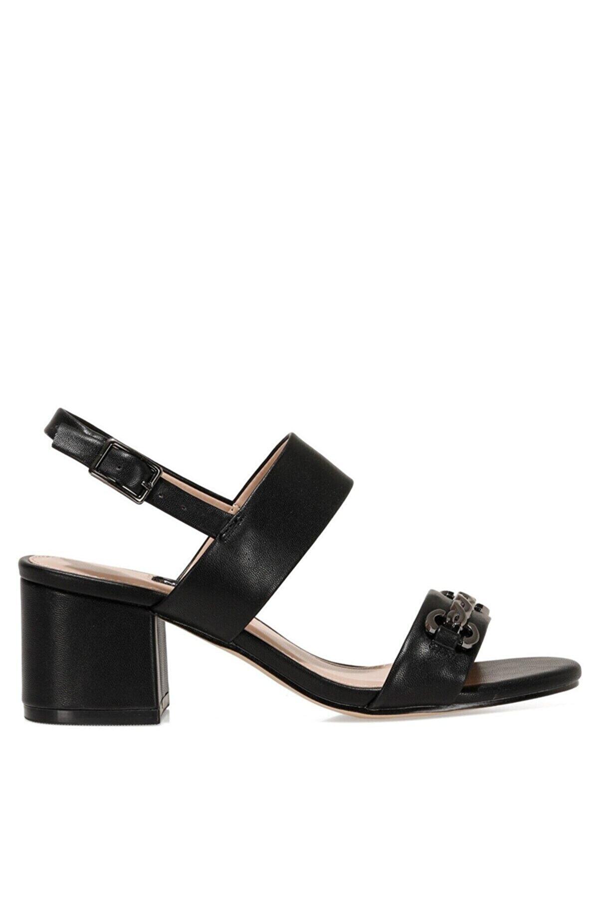 Nine West Samara 1fx Siyah Kadın Topuklu Sandalet