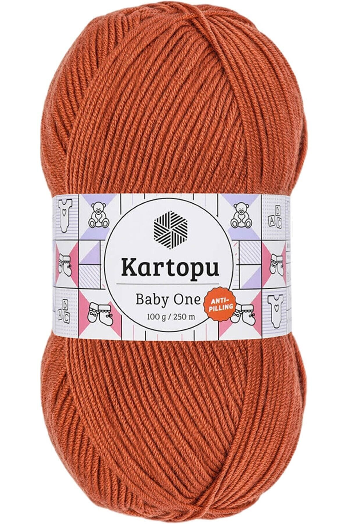 Kartopu Baby One Tüylenmeyen Tarçın Bebek Ipi K1210