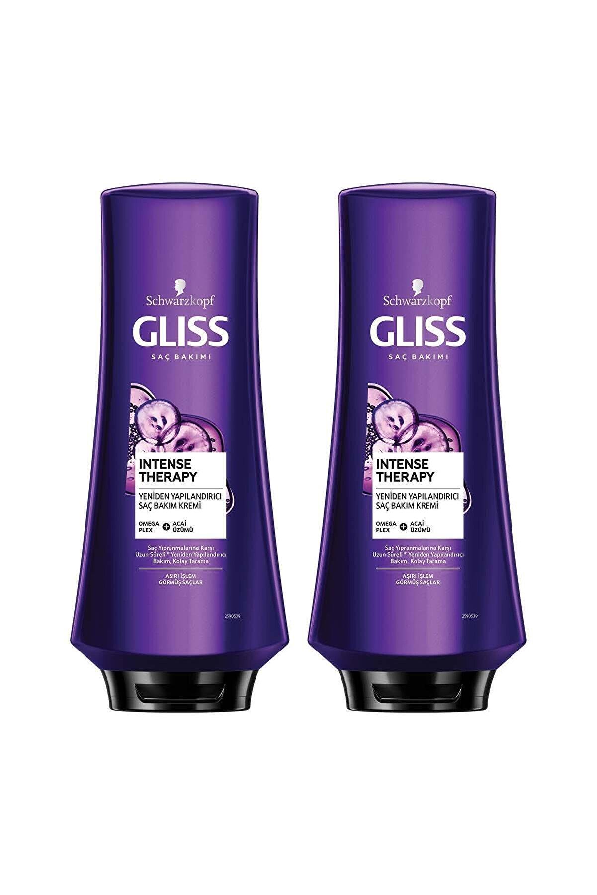 Gliss Intense Therapy Yeniden Yapılandırıcı Saç Kremi 360 ml 2'li