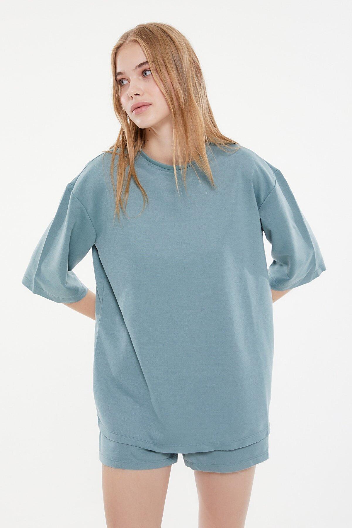 TRENDYOLMİLLA Mint Örme Pijama Takımı THMSS21PT0164