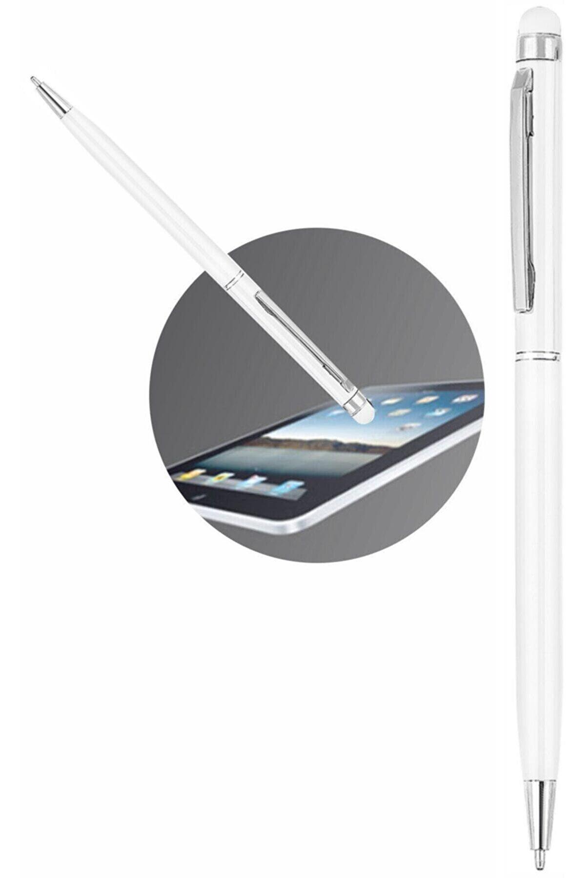 MMA DİJİTAL MAĞAZACILIK Dokunmatik Kalem Tablet Telefon Uyumlu Dokunmatik Uçlu Tükenmez Mavi Mürekkep