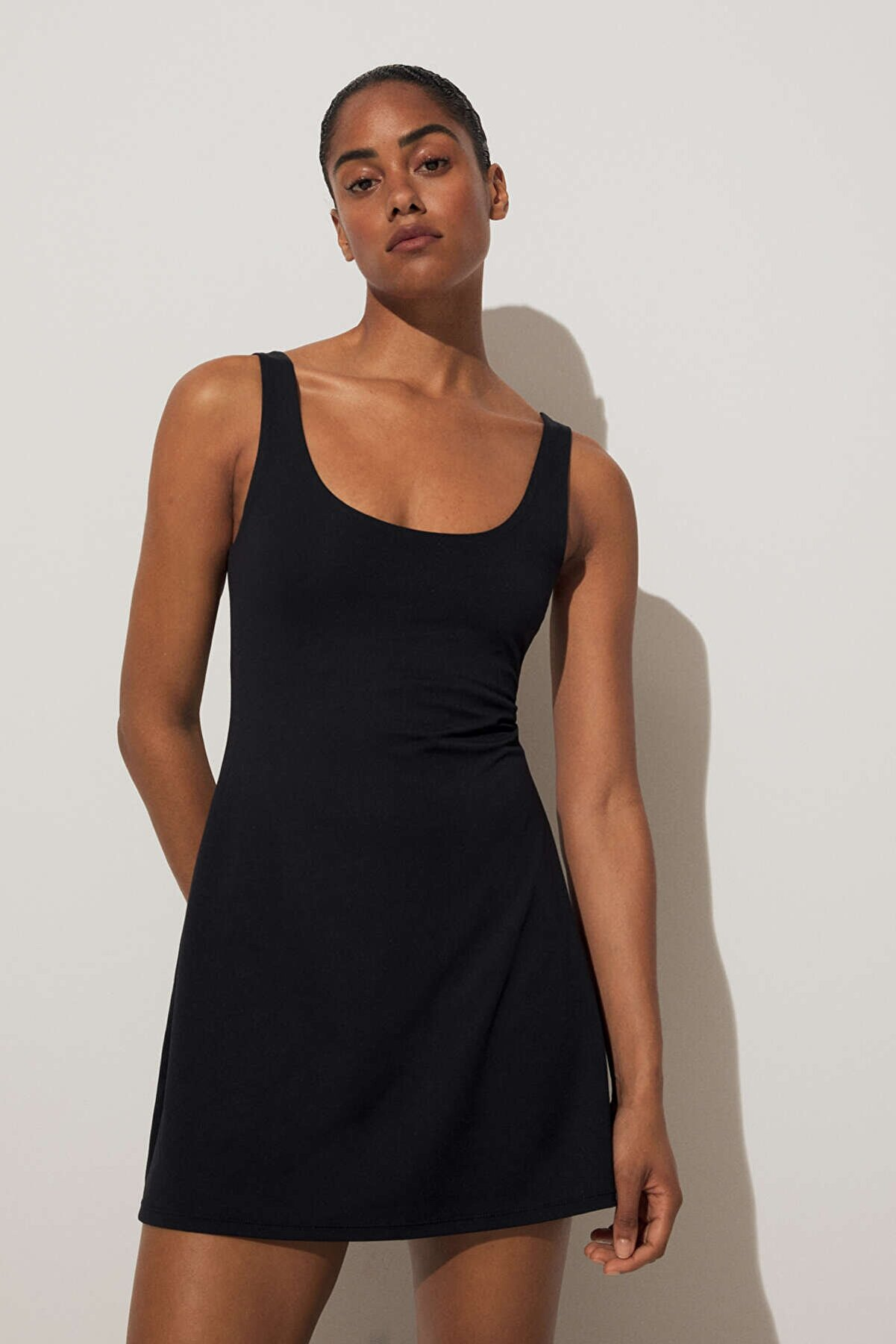 Oysho Kadın Siyah Compressive Elbise