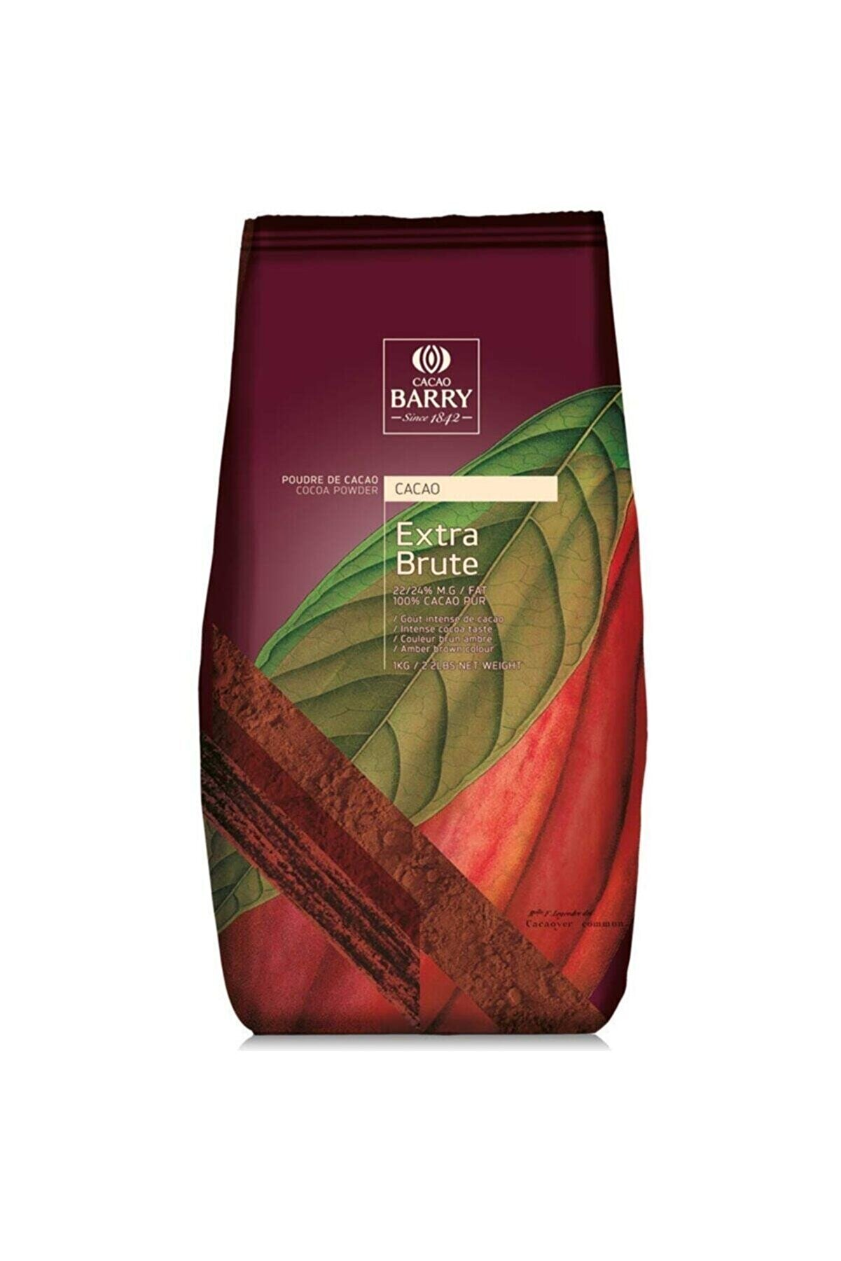 Callebaut Cacao Barry Extra Brute Kakao Tozu 1 Kg (%22-24 Yağlı)