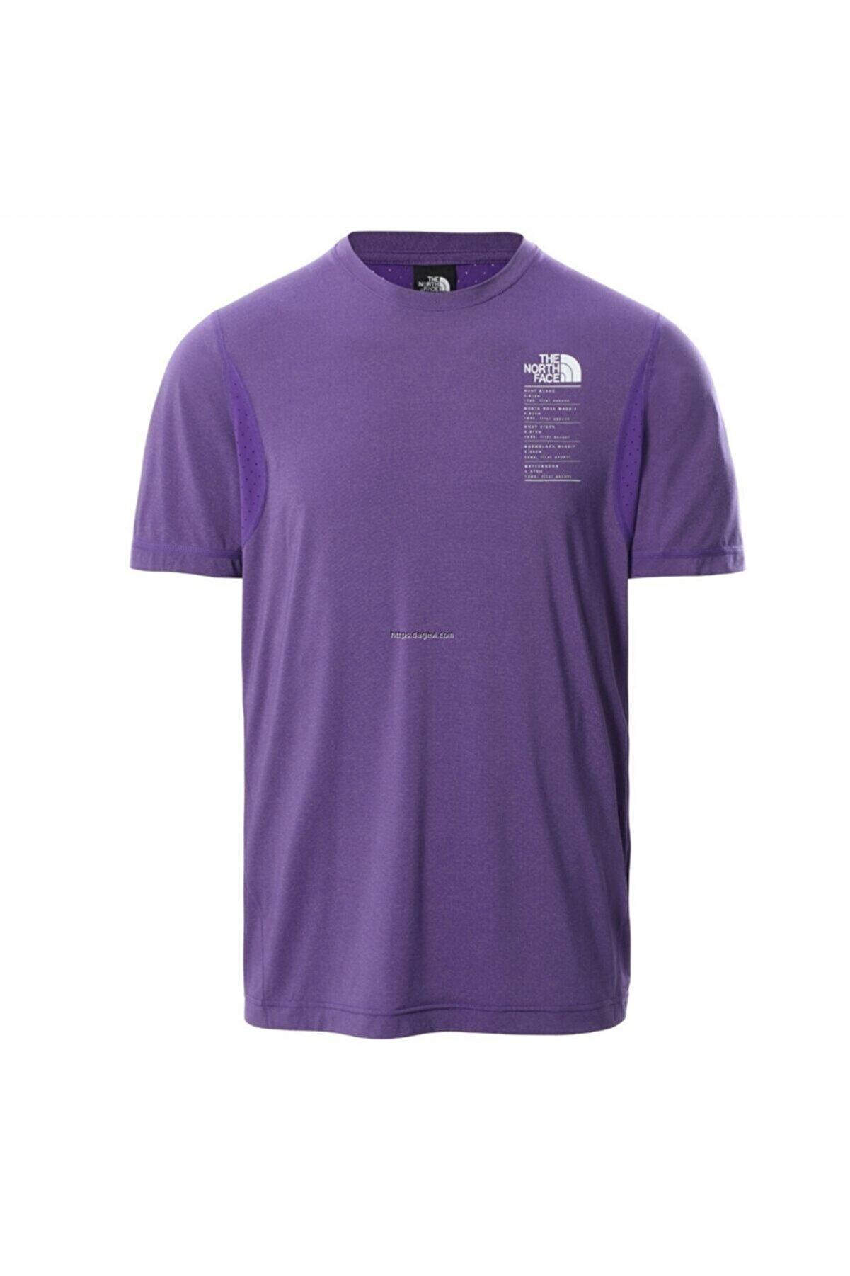 The North Face Glacier Erkek Mor T-shirt