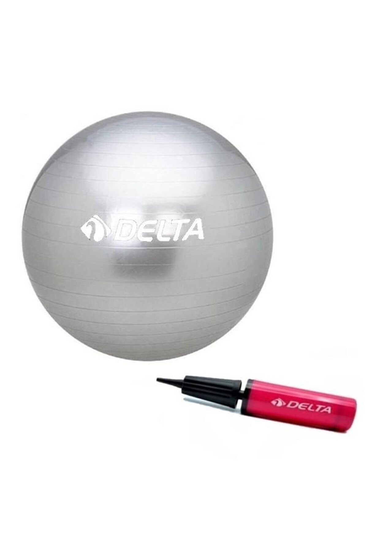 Delta 55 Cm Silver Deluxe Pilates Topu 25 Cm Pilates Topu Pompası