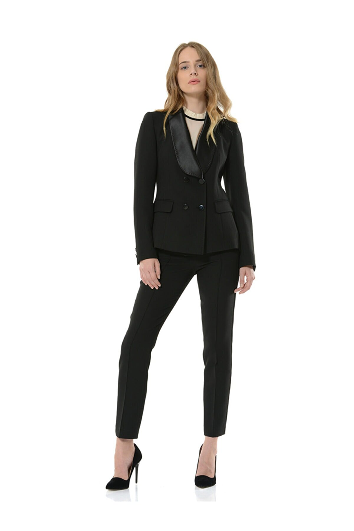 BİRELİN Kadın Siyah Oscar Ceket