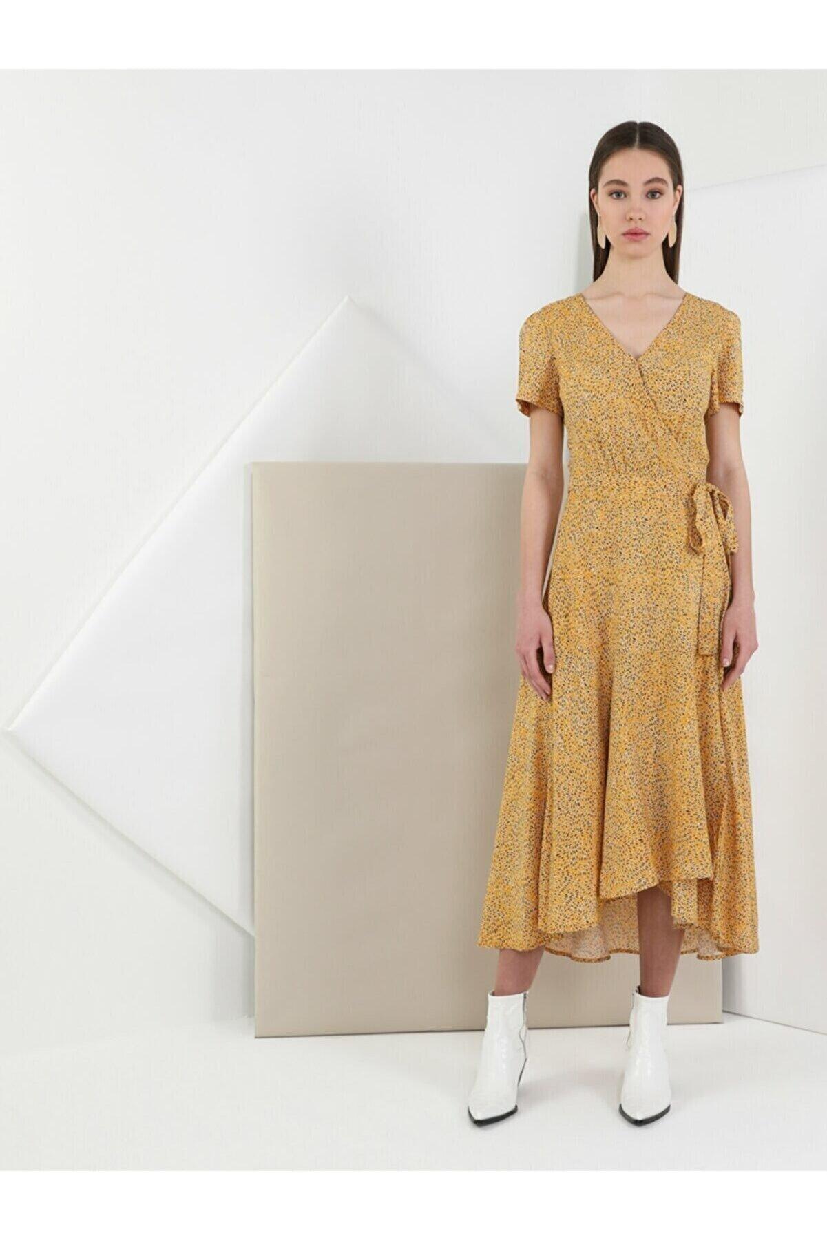 Colin's Slim Fit Sarı Kadın Elbise