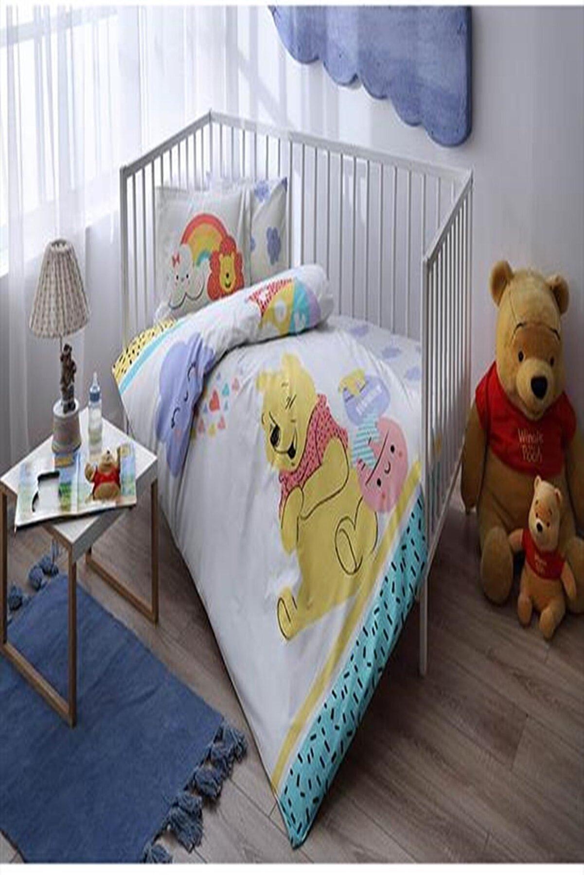 Özdilek Taç Lisanslı Bebek Nevresim Takımı Winnie The Pooh Hunny