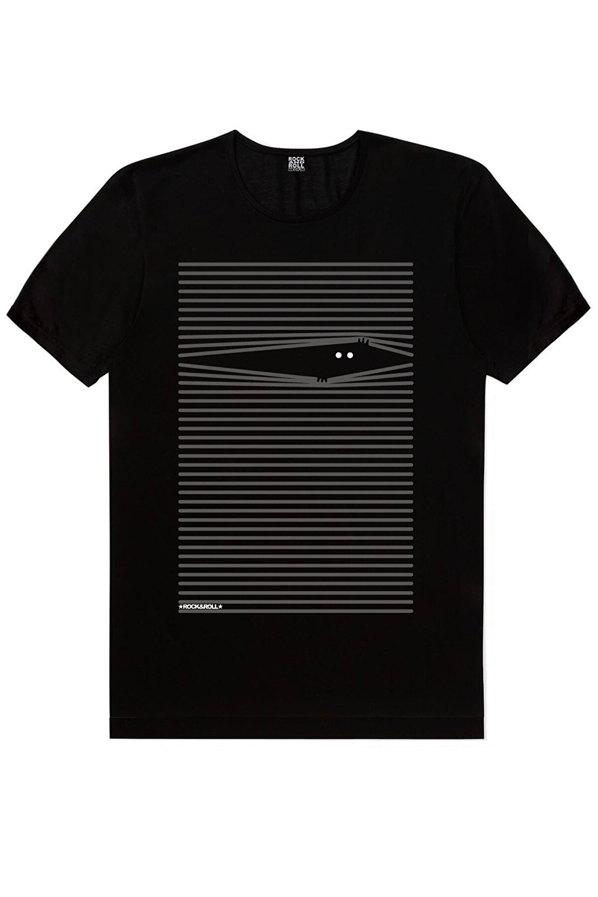 Rock & Roll Noluyo Ya Siyah Kısa Kollu Erkek T-shirt