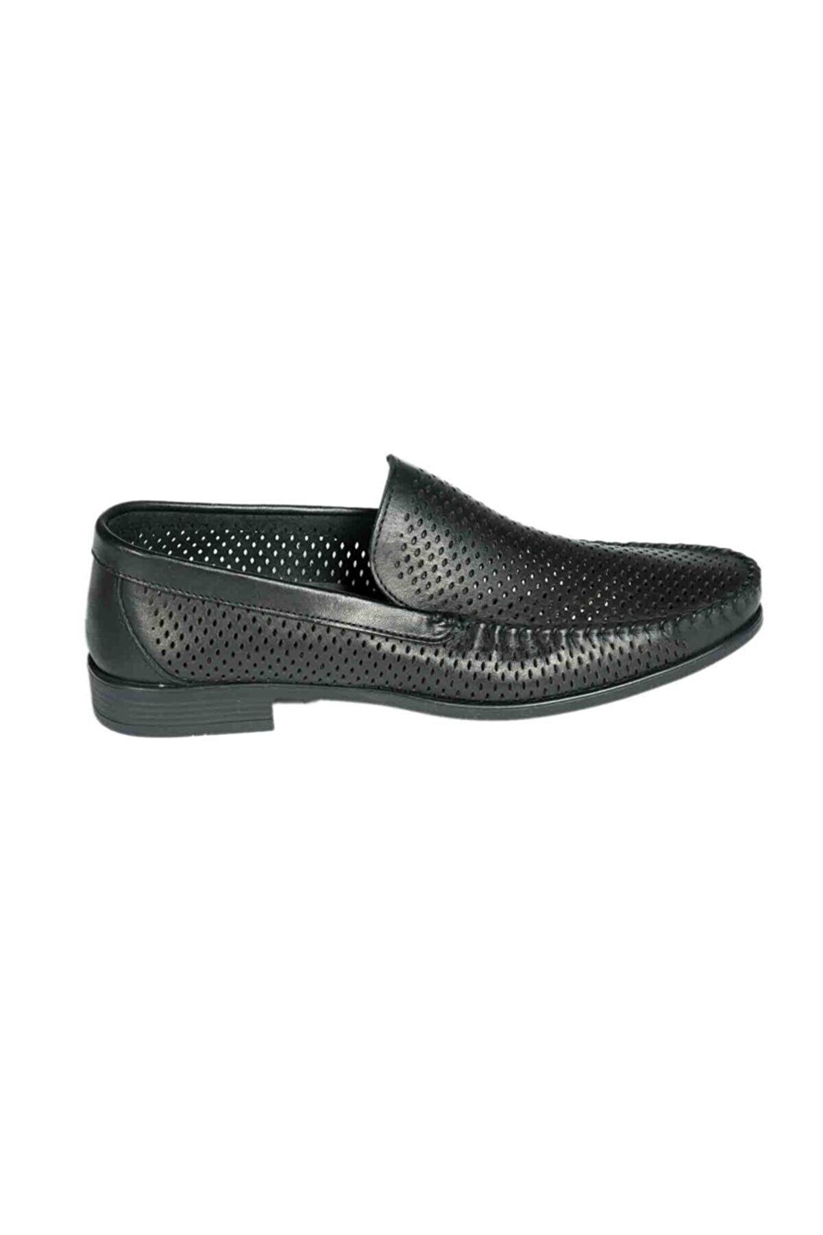 Brunossi Erkek Siyah Loafer Ayakkabı