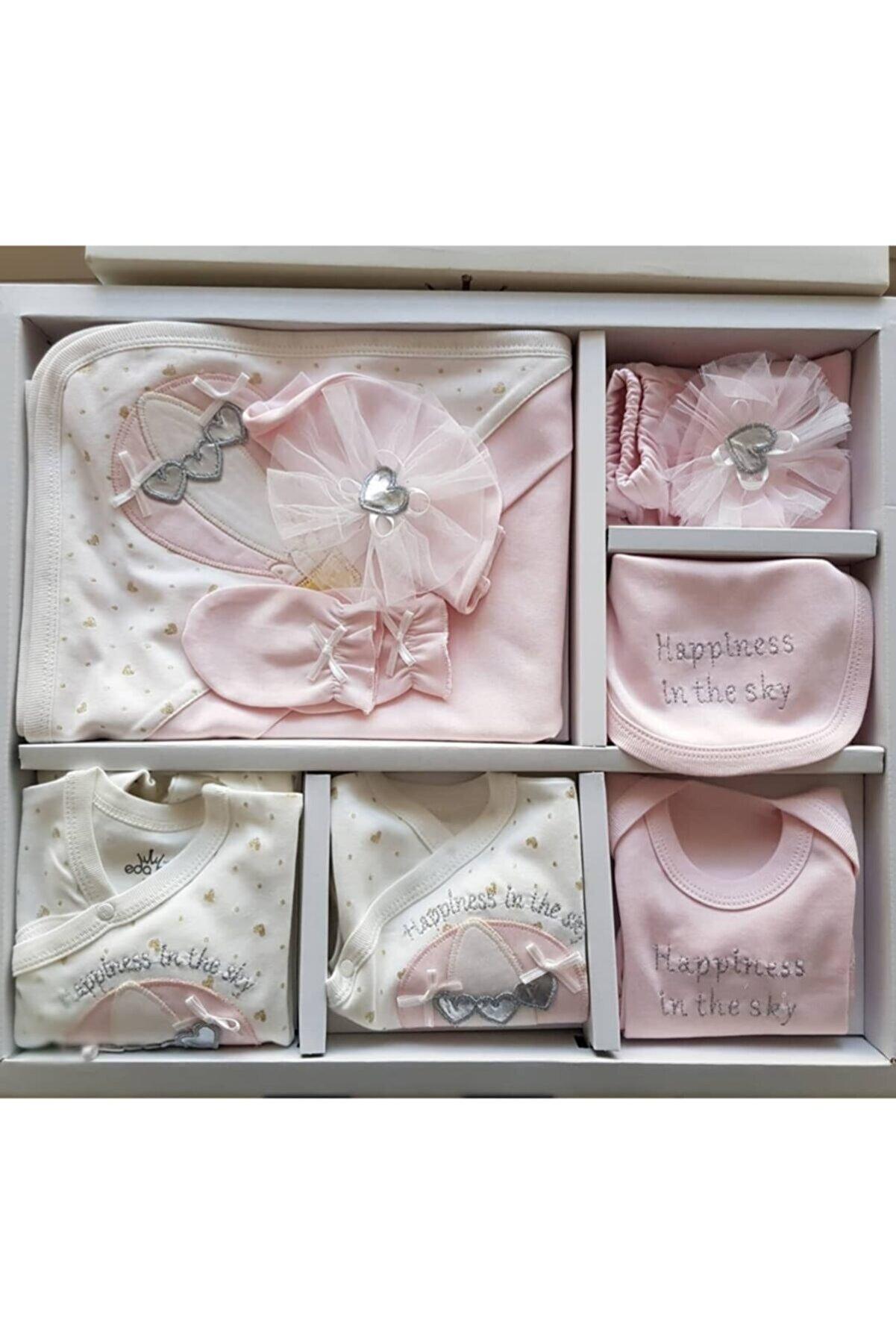 Eda Baby Kız Bebek Balonlu 10'lu Hastane Çıkış Seti