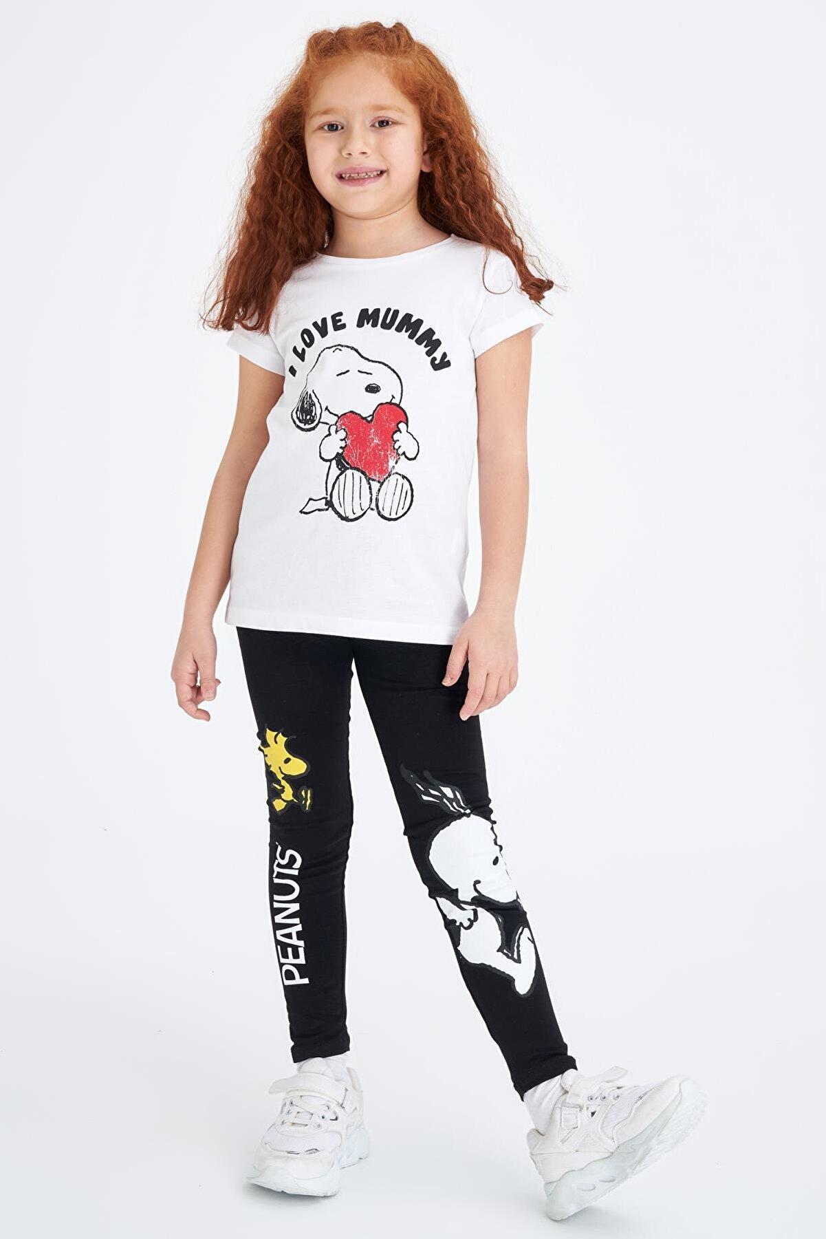 Defacto Slim Fit Snoopy Lisanslı Tayt