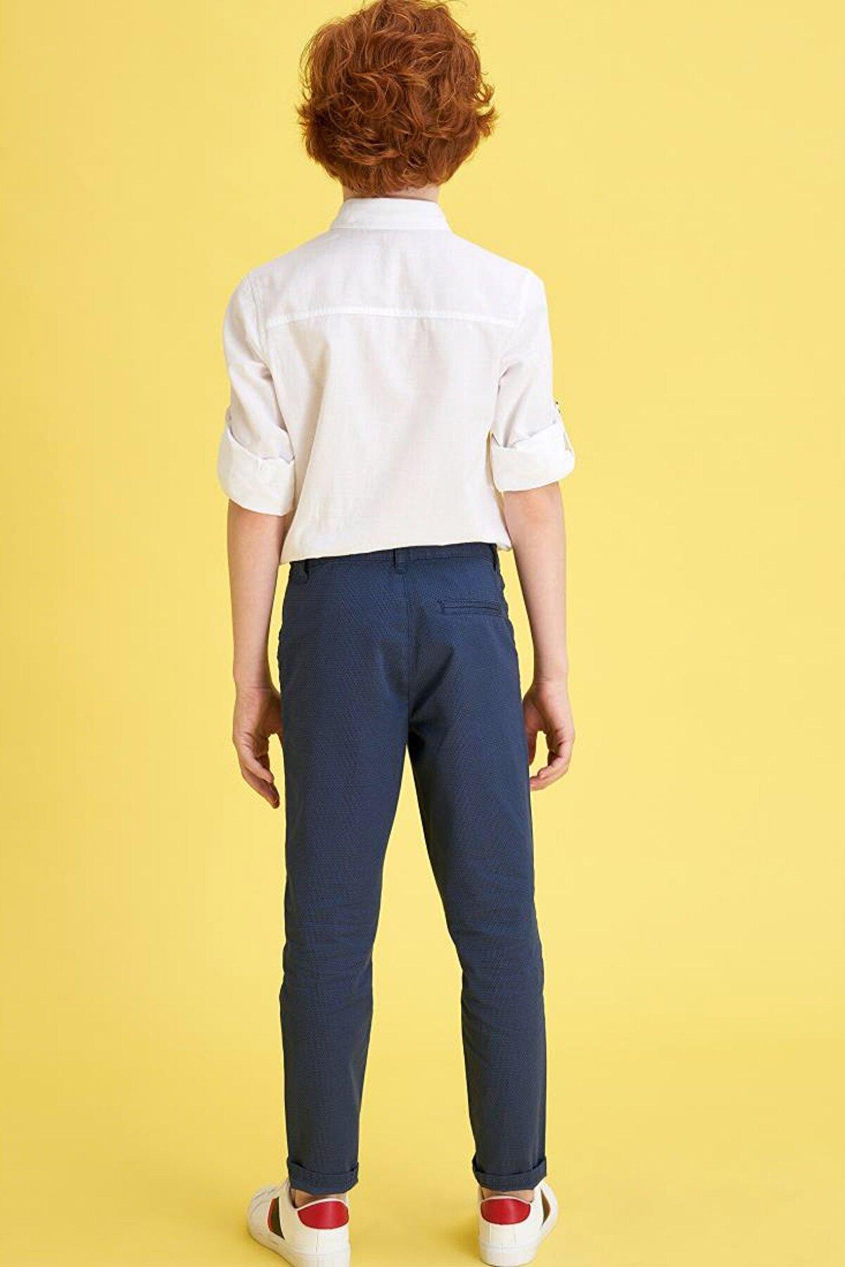 Defacto Erkek Çocuk Slim Dokuma Pantolon