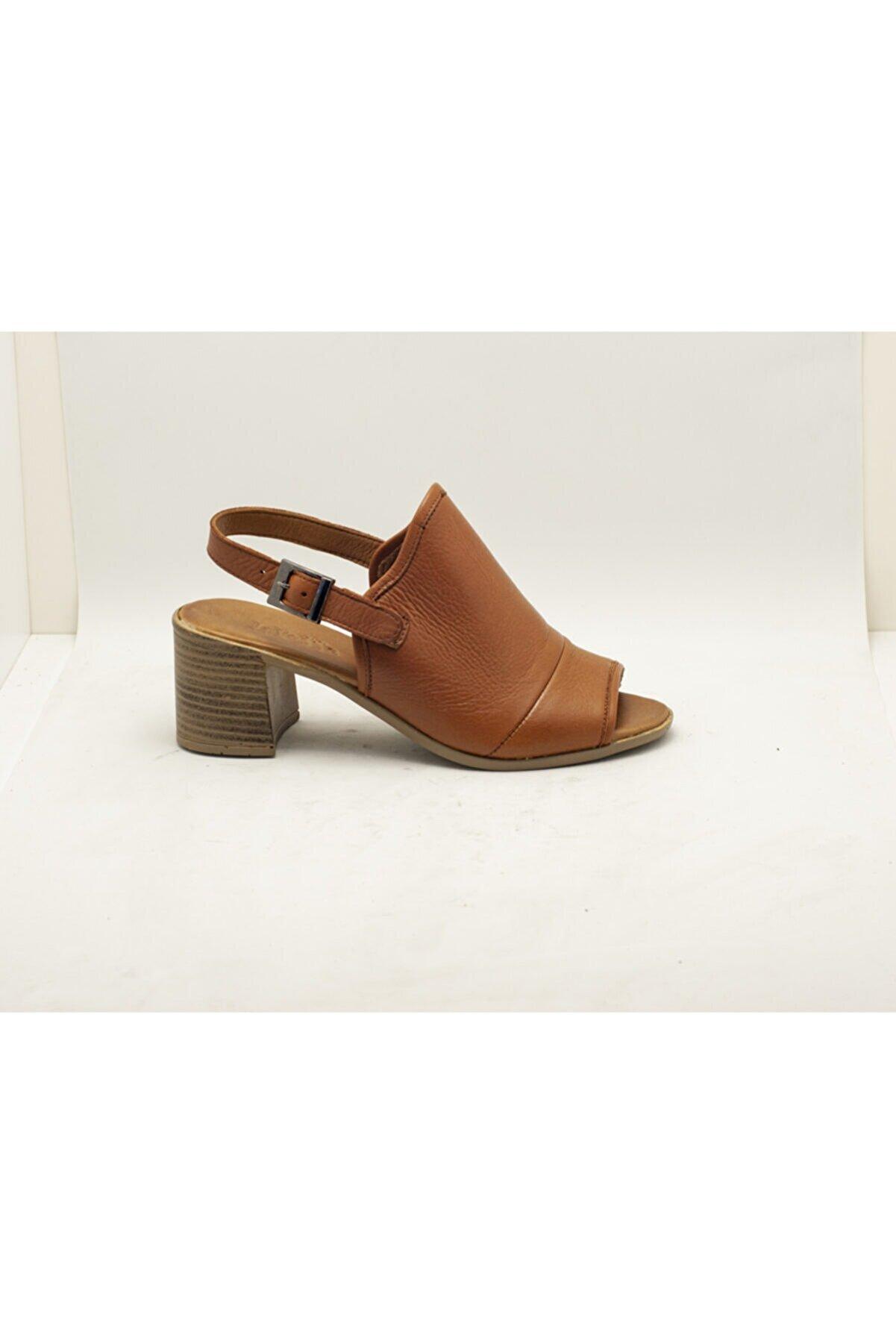 LEVOSSA Kadın Taba Hakiki Deri Sandalet