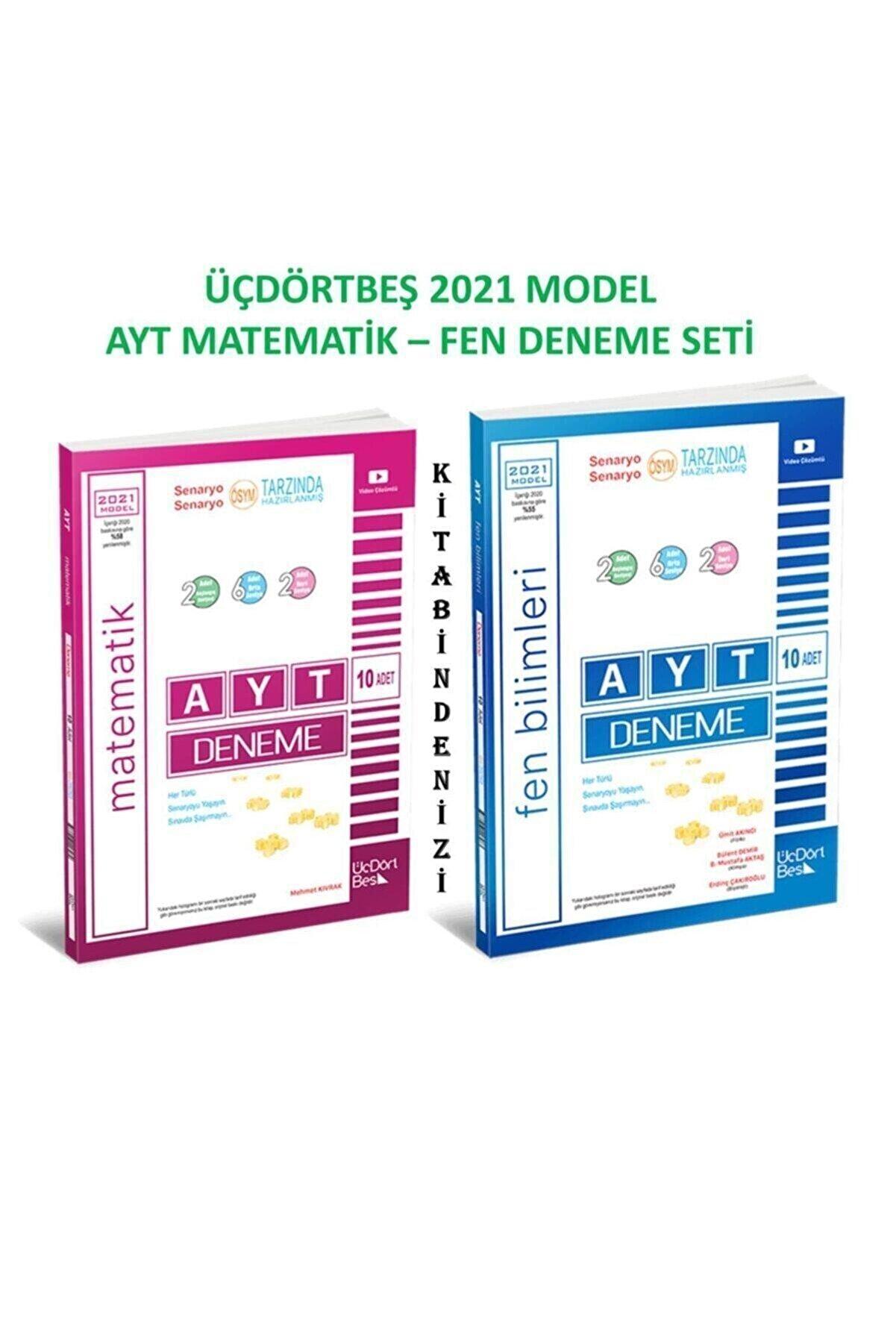 ÜçDörtBeş Yayınları Üçdörtbeş Ayt Matematik-fen Deneme Seti 2021 Model