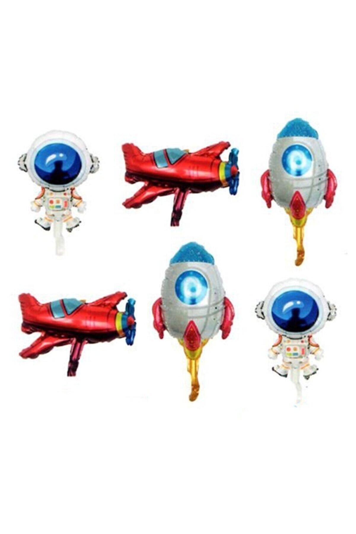 RPS Uzay Konsepti 6 Lı Folyo Balon Seti - 14 Inch