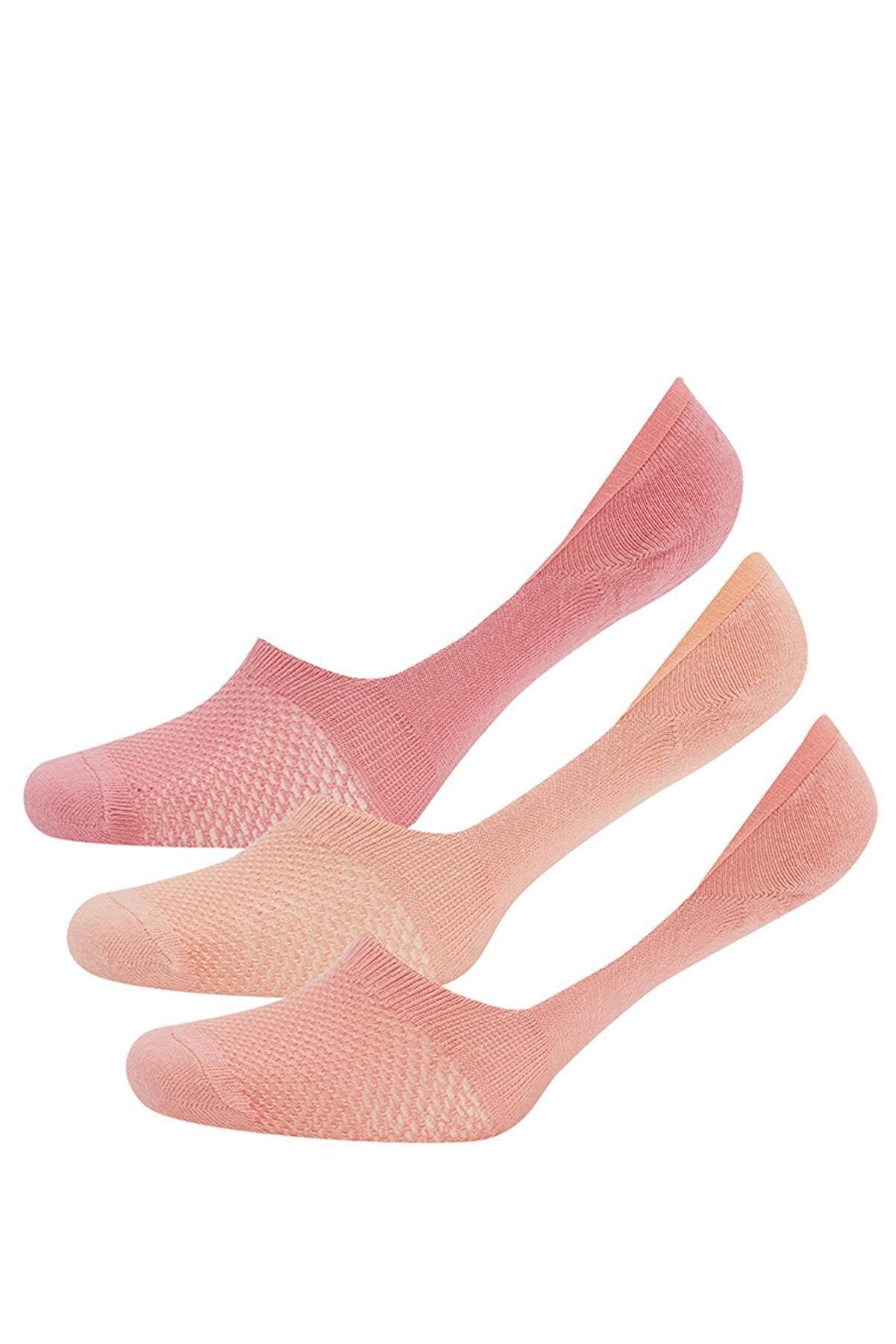 Defacto Kadın Turuncu Babet Çorap 3'lü