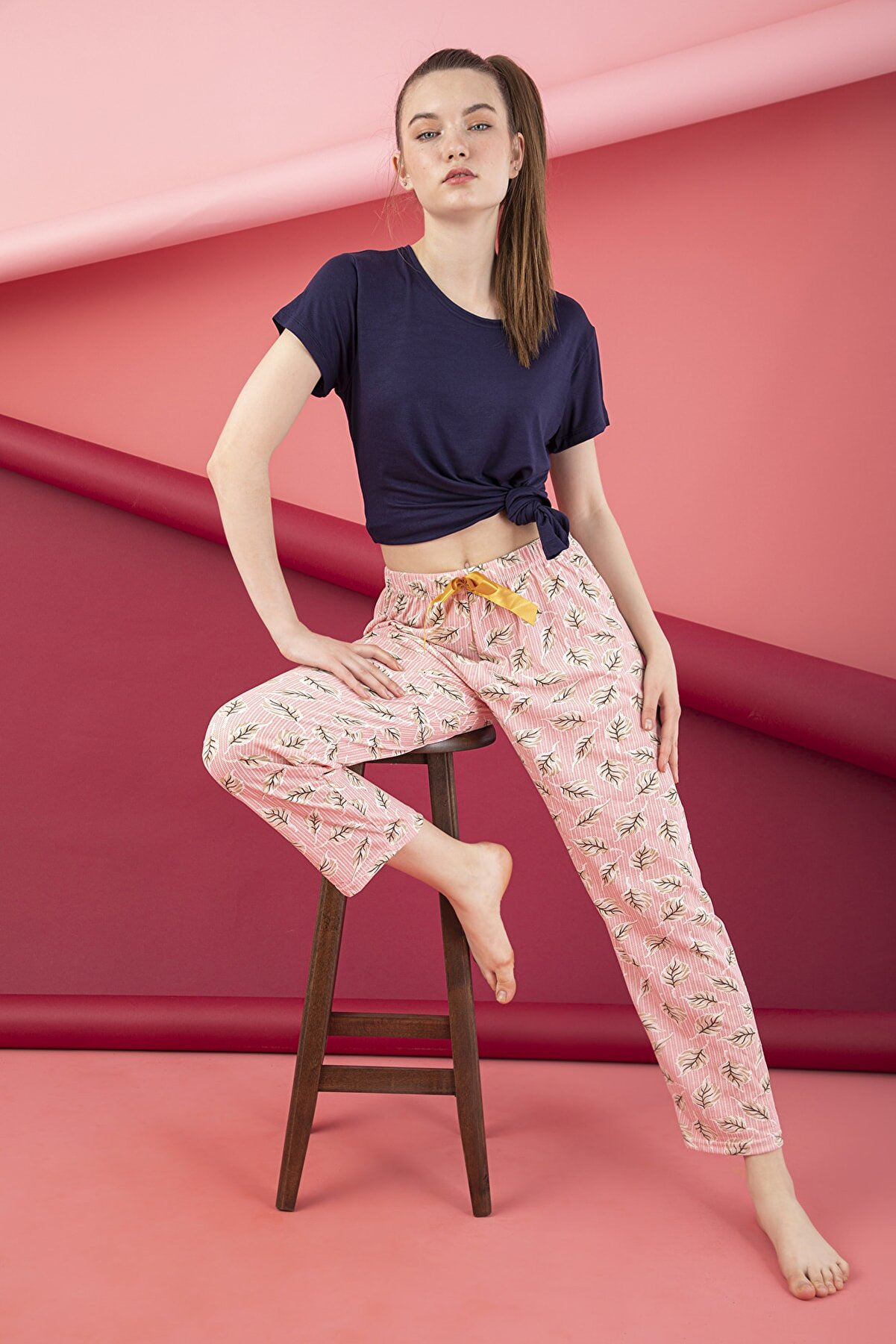 Strawberry Penye Pijama Altı