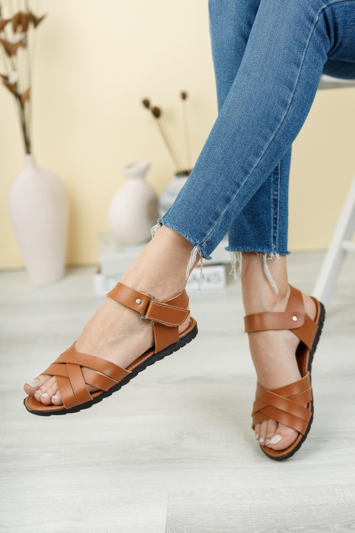 Fogs Kadın Kahverengi Sandalet
