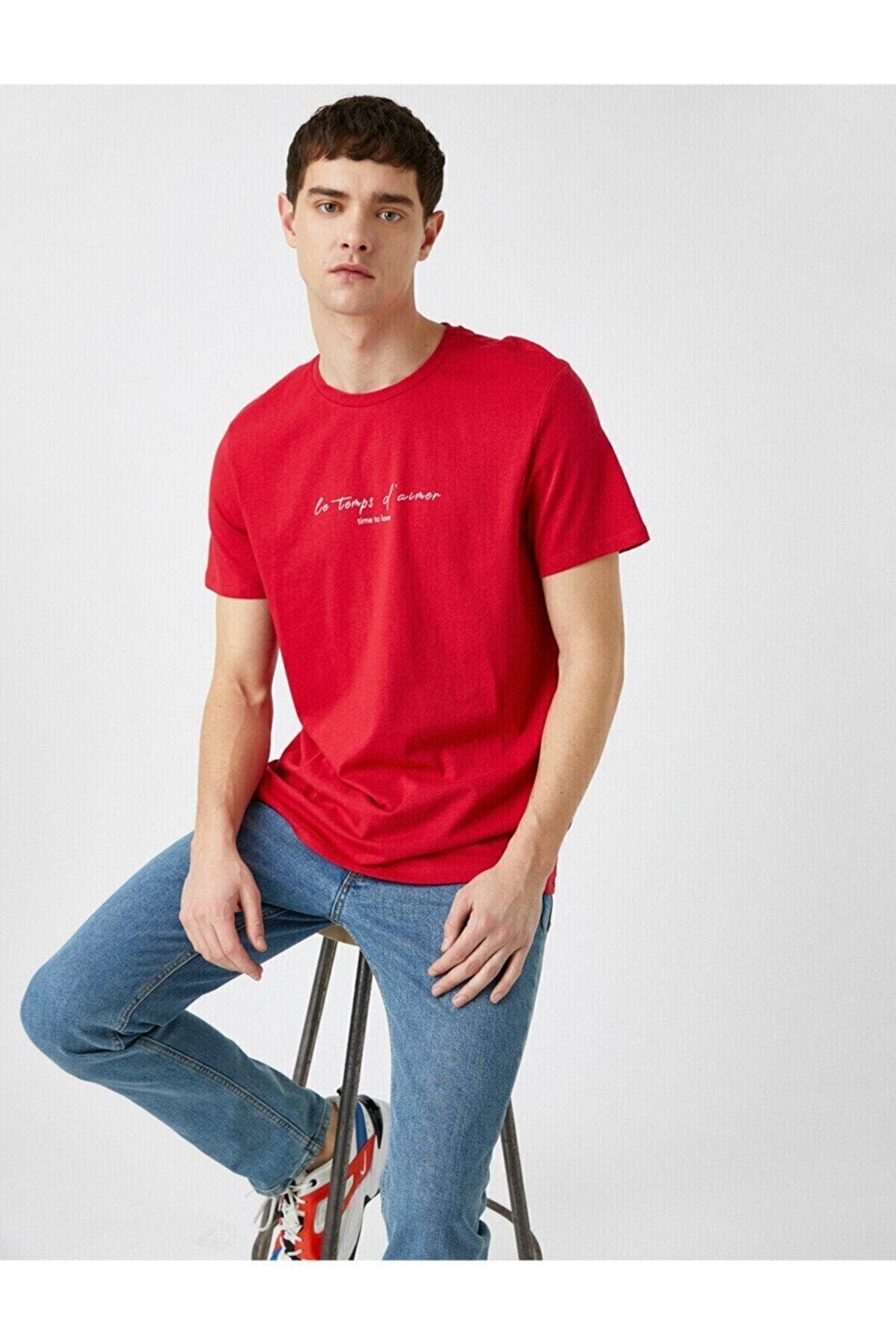 Koton Erkek Kırmızı Tshirt