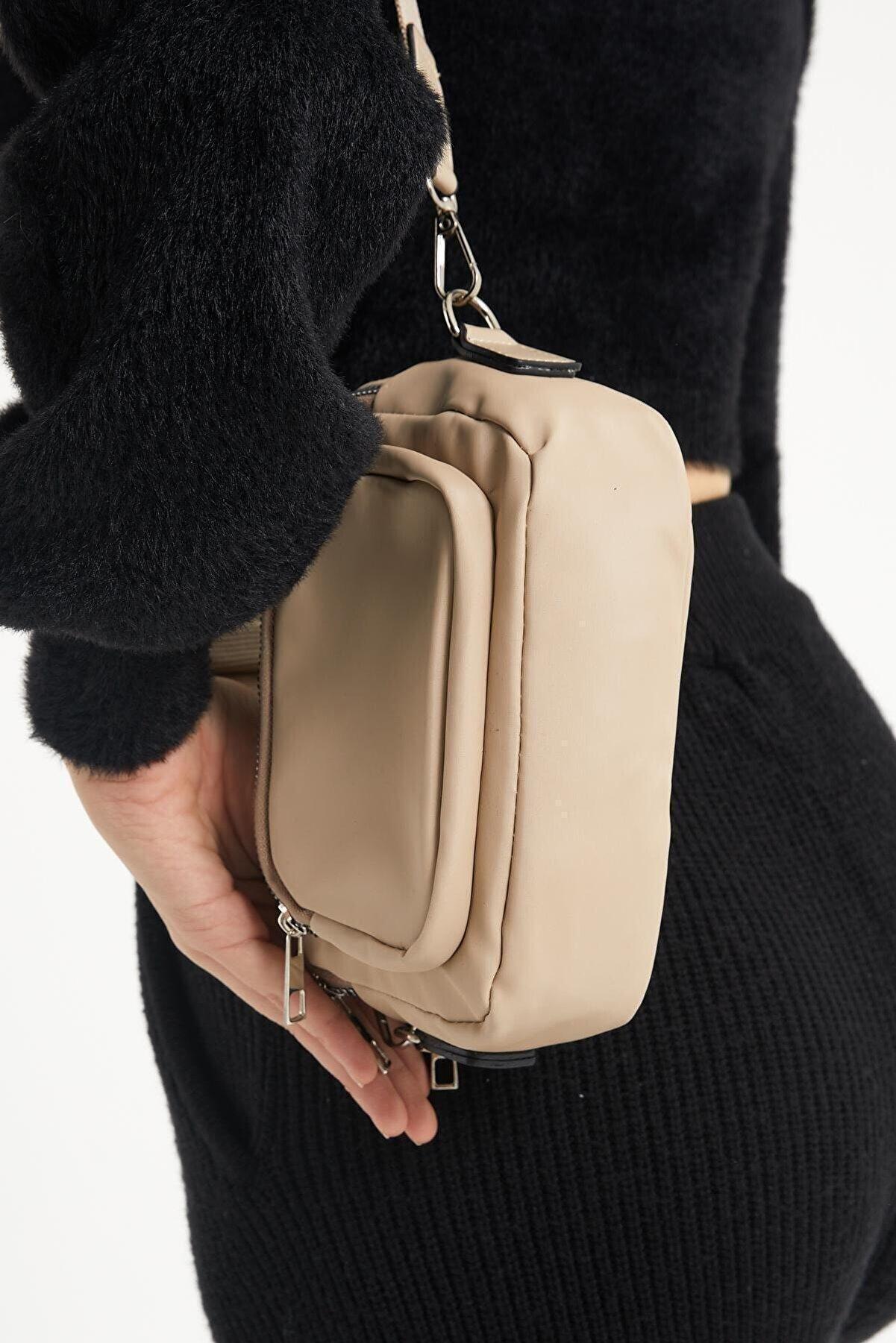 Çantacımstore Kadın Bej Omuz Çantası
