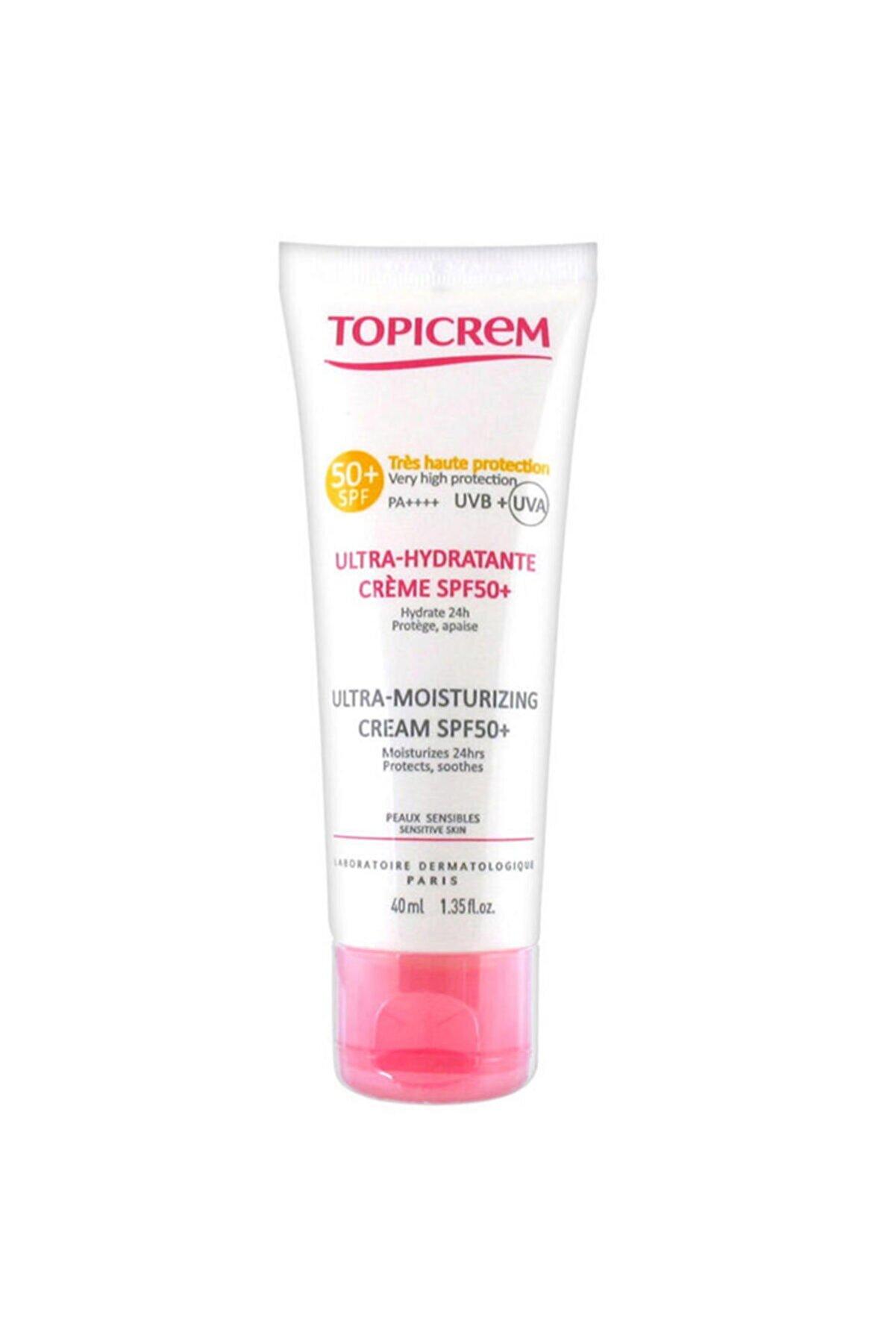 Topicrem Ultra Moisturizing Facebody Cream Nemlendirici Güneş Kremi Spf50 40 ml Skt:2/2023
