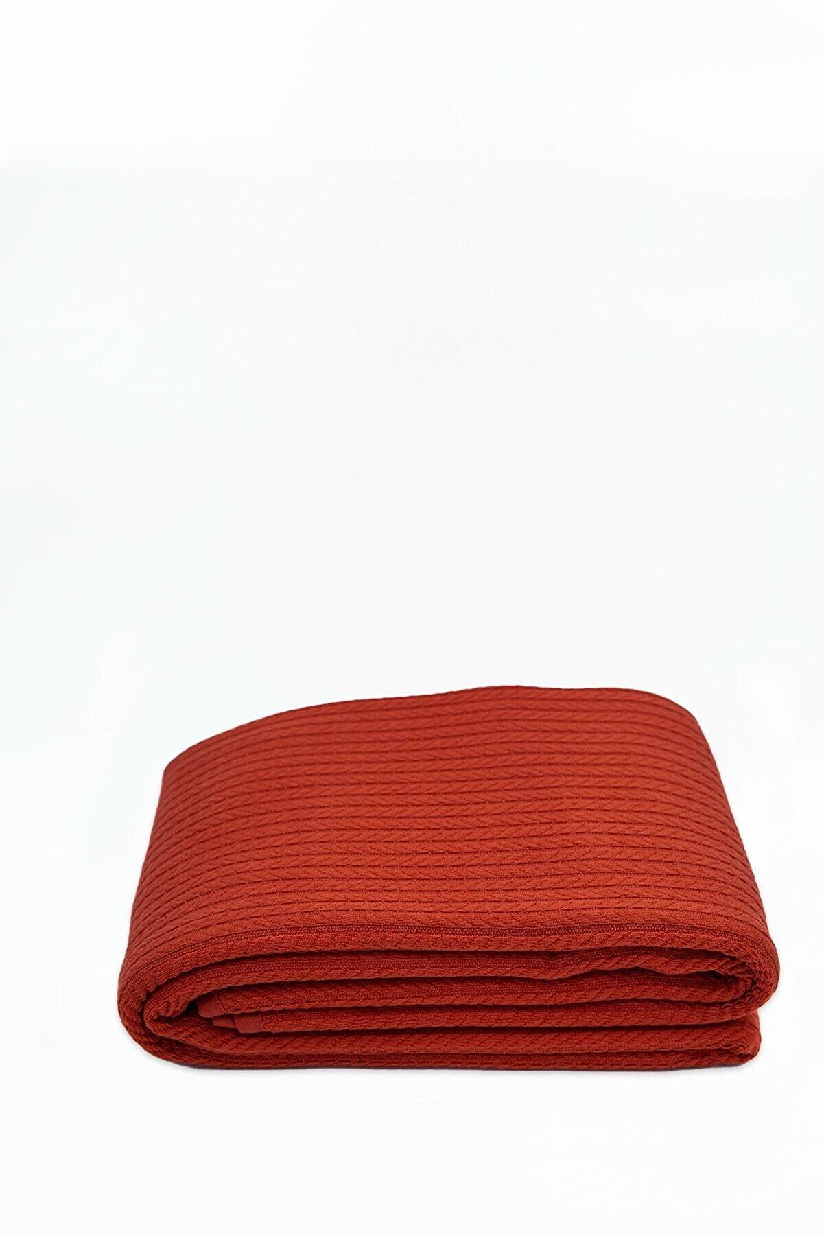Tekstil Home Paris Serisi Tek Kişilik Örgü Pike Kiremit