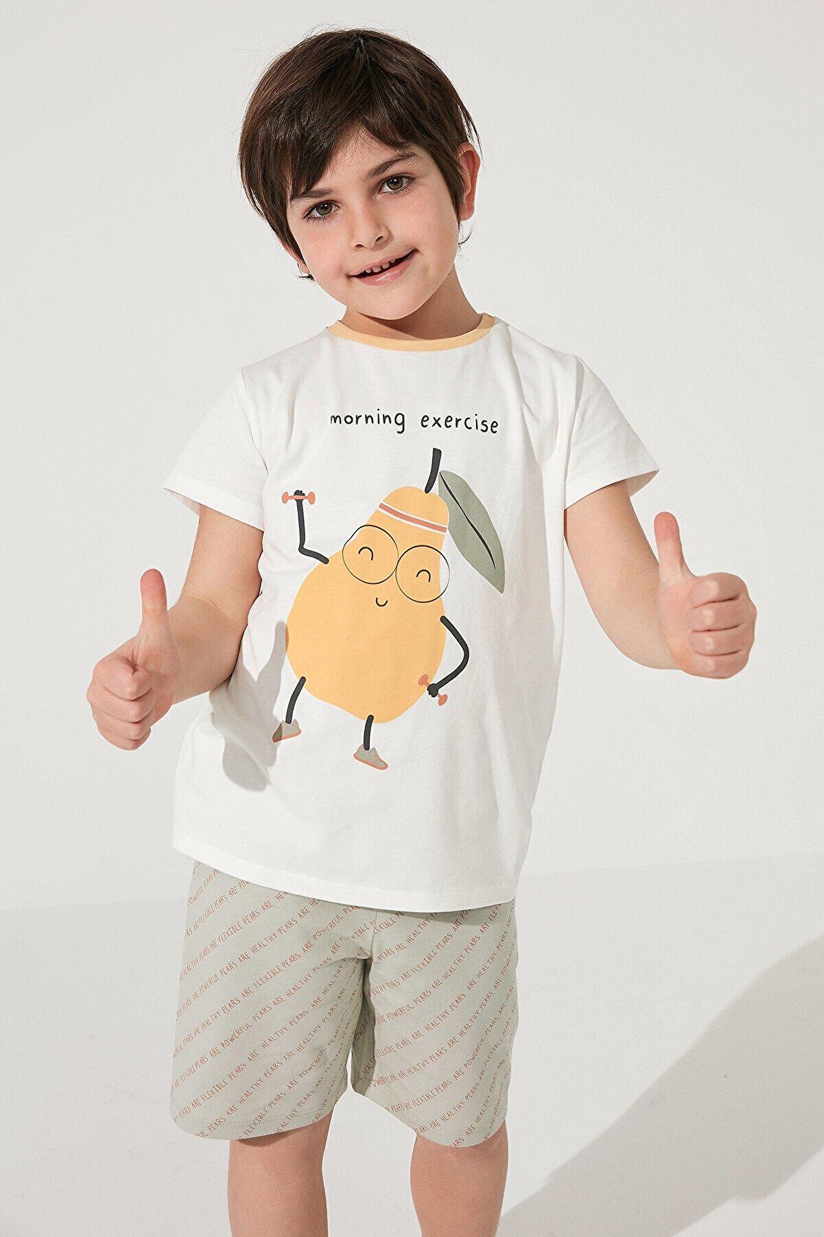 Penti Çok Renkli Erkek Çocuk Veg-t Pear 2li Pijama Takımı