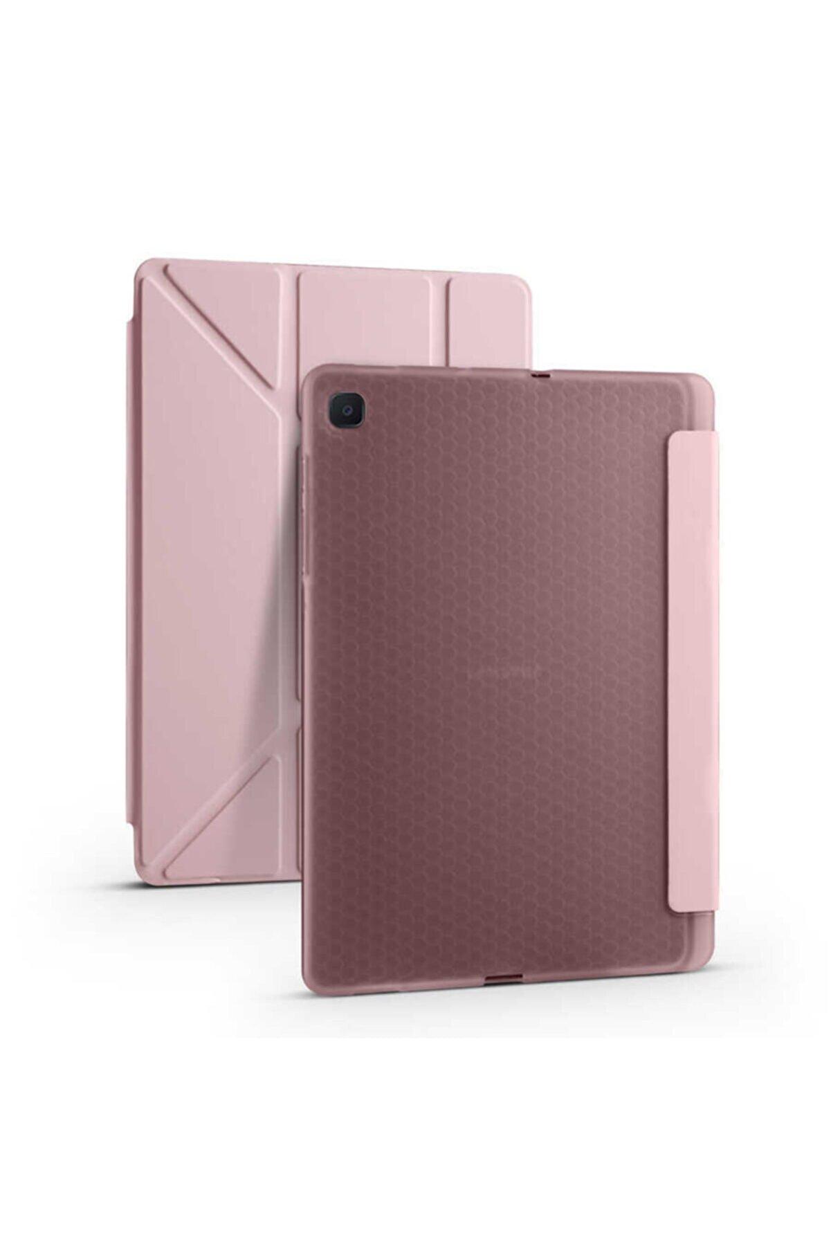 Samsung Cprimetation Galaxy Tab S6 Lite P610 Kılıf Tri Folding Smart Ceper Standlı Kalemlikli