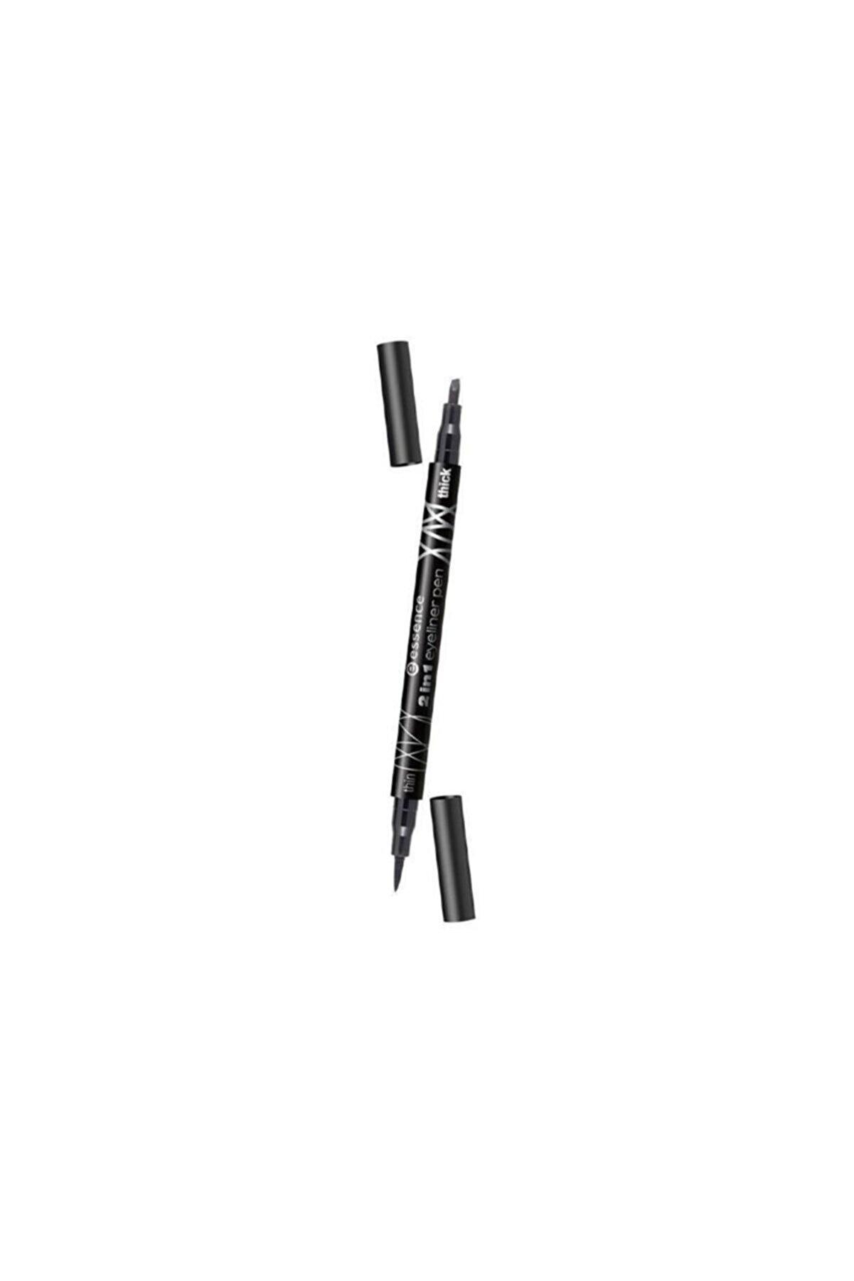 Essence Eyeliner Kalemi 2 Taraflı Ince Uçlu Ve Eğimli Siyah Renkli Marka