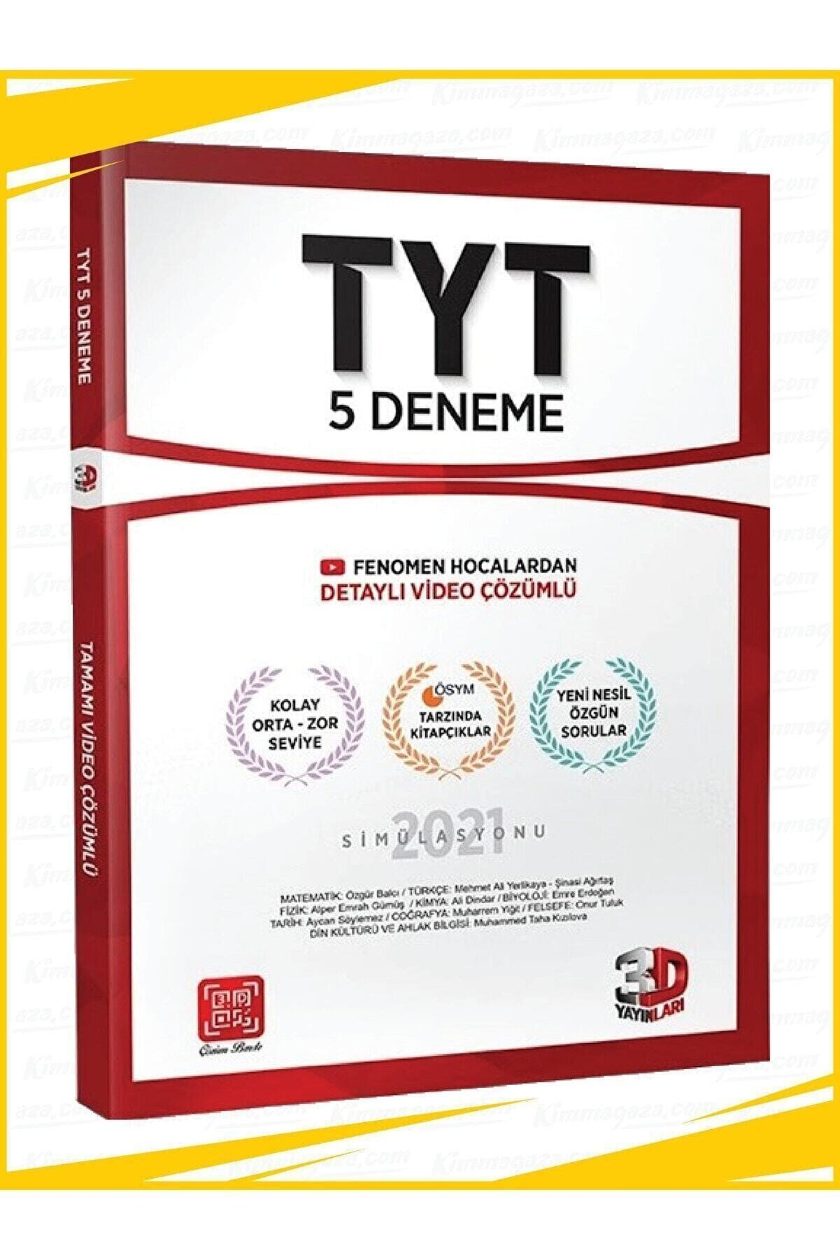 3D Yayınları Tyt Genel Deneme
