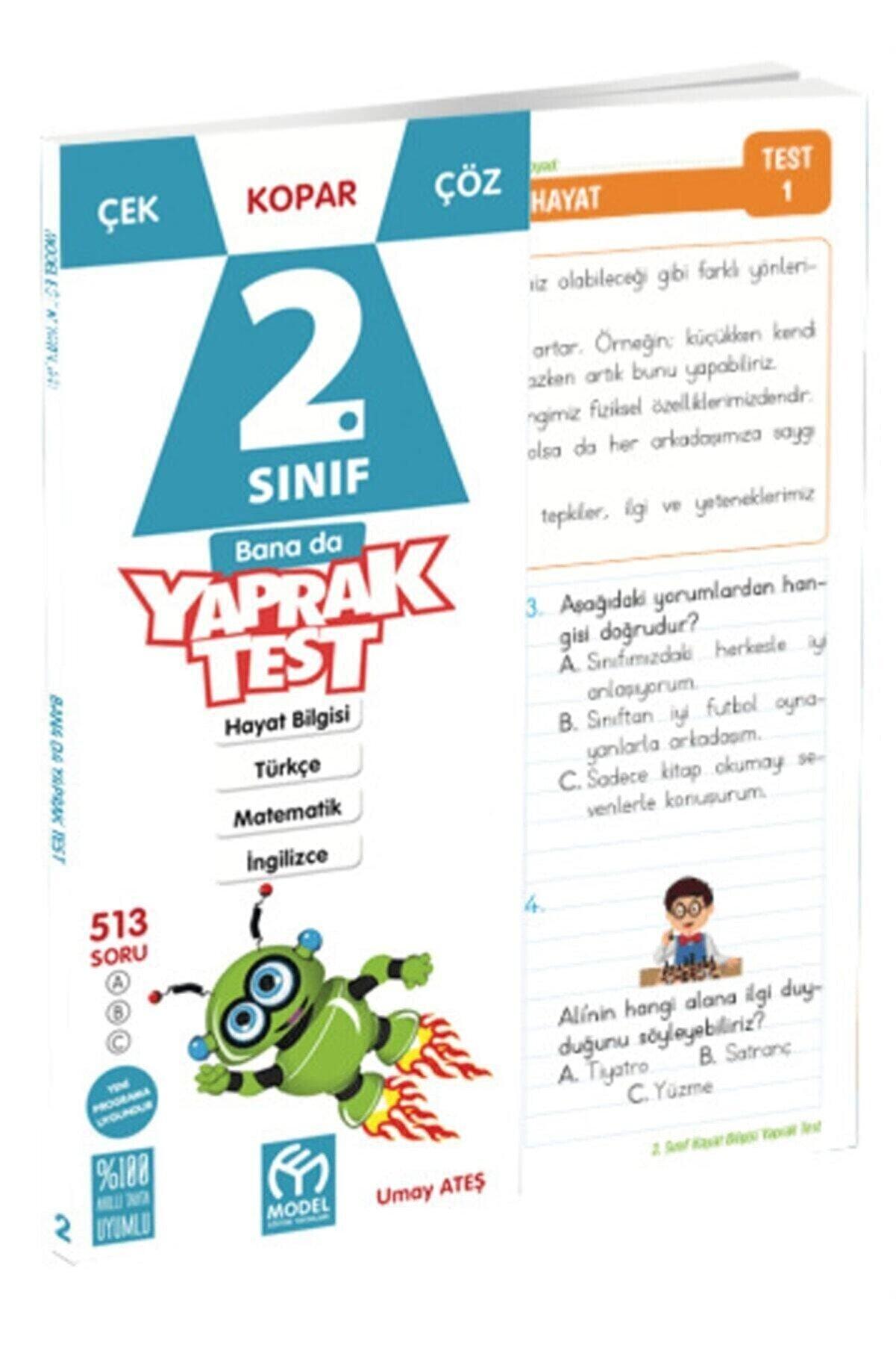 Model Eğitim Yayınları Model Yayınları 2 Sınıf Tüm Dersler Yaprak Test (A)