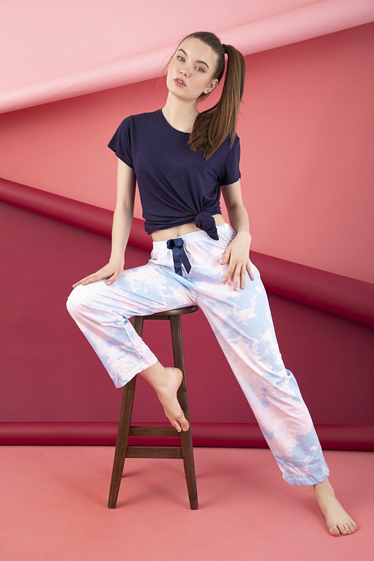 Strawberry Kadın Beyaz Penye Tek Pijama Altı