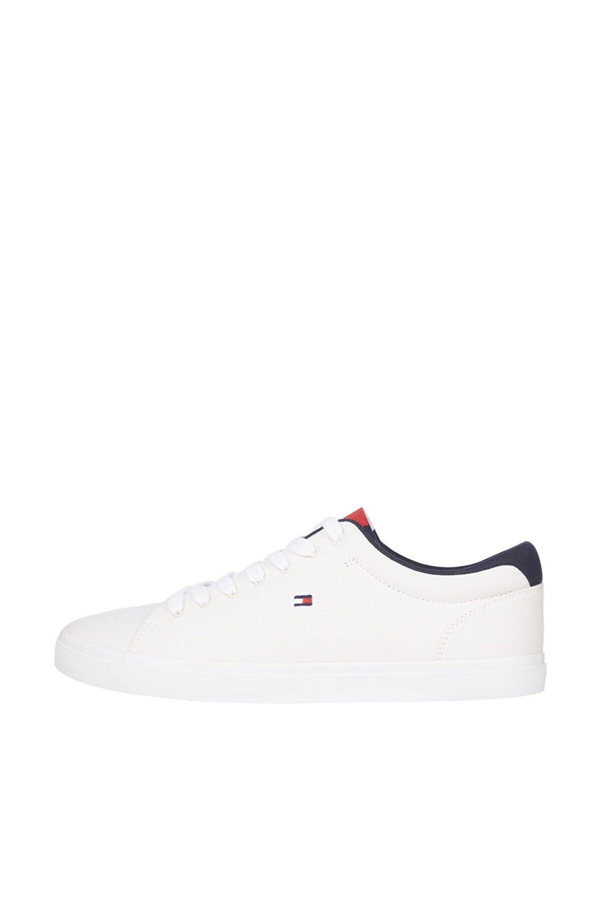Tommy Hilfiger Erkek Beyaz Sneaker Essential Chambray Vulcanized FM0FM03472