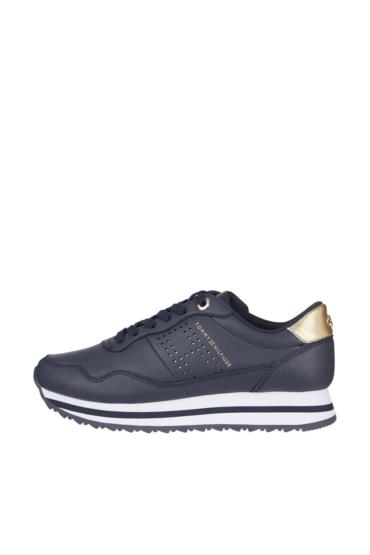 Tommy Hilfiger Kadın Mavi Sneaker Lifestyle Runner Sneaker FW0FW05557