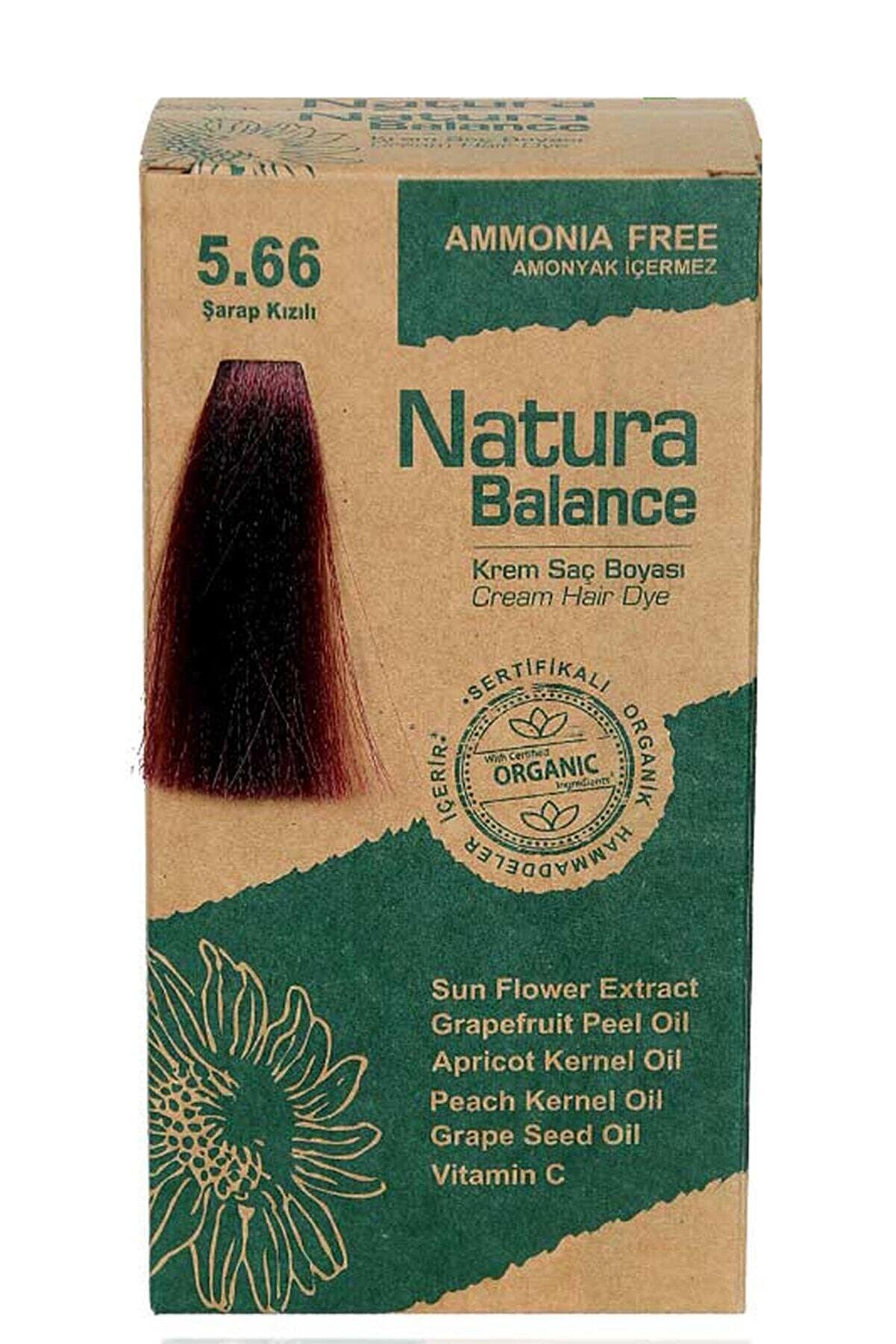 NATURABALANCE Saç Boyası Organik Sertifikalı Şarap Kızıl 5.66 8699367128070